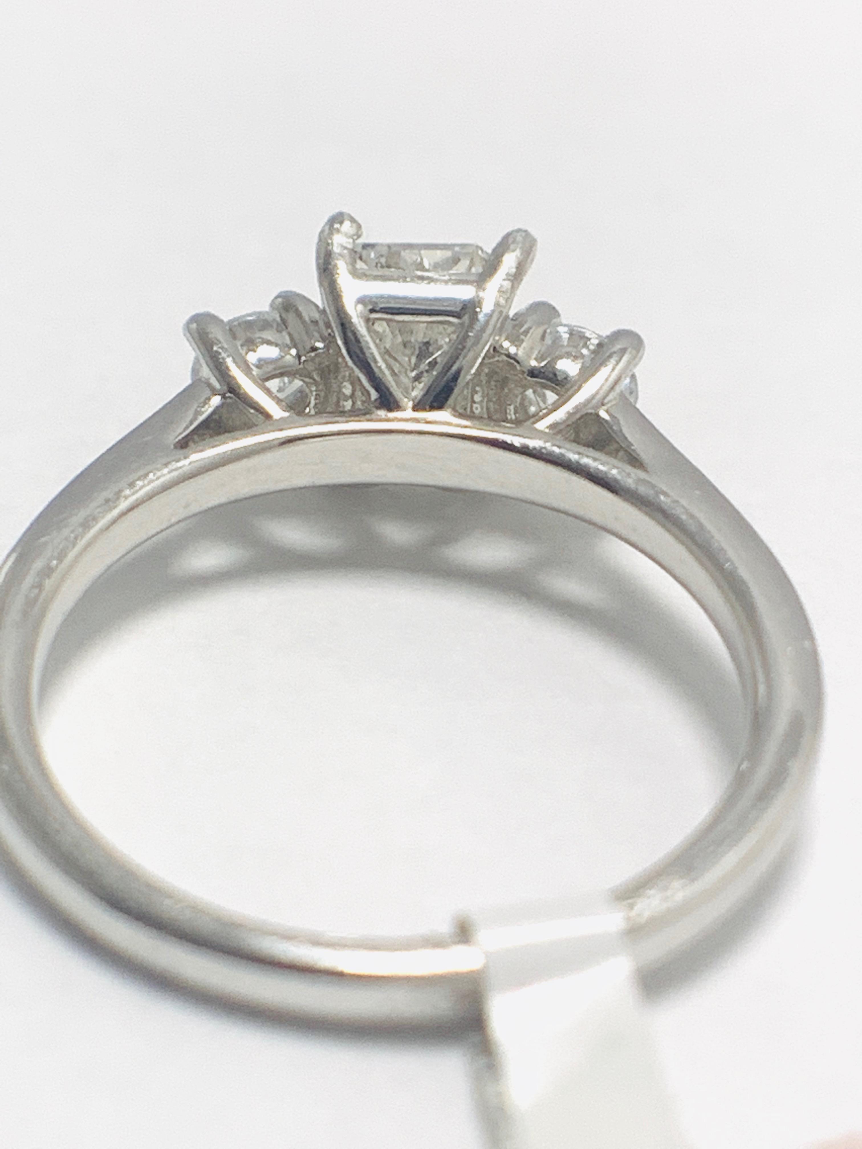 1.50ct trilogy platinum diamond ring - Image 6 of 10