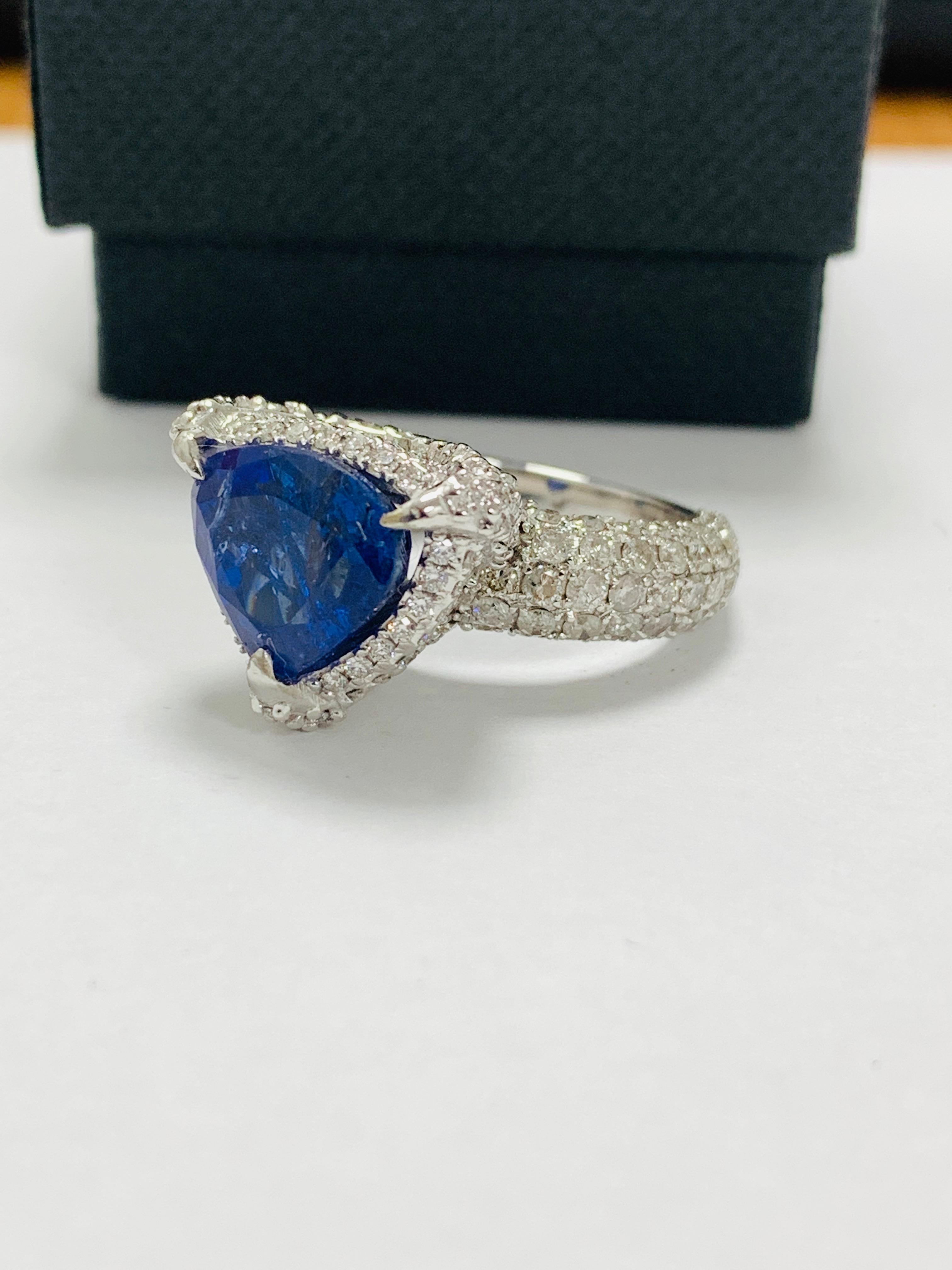 platinum tanzanite ring - Image 2 of 13