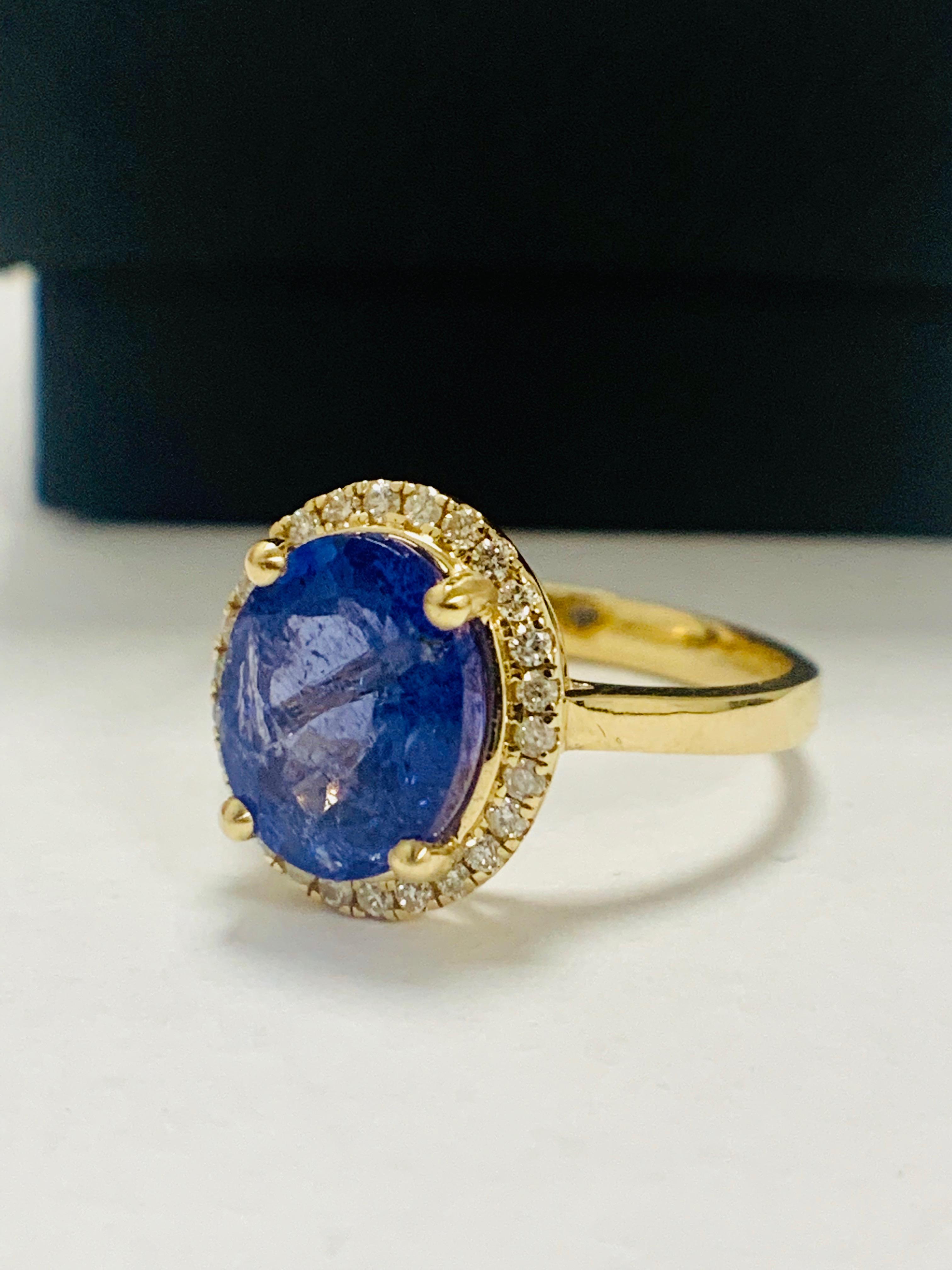 14ct Yellow Gold Tanzanite and Diamond ring - Image 2 of 13