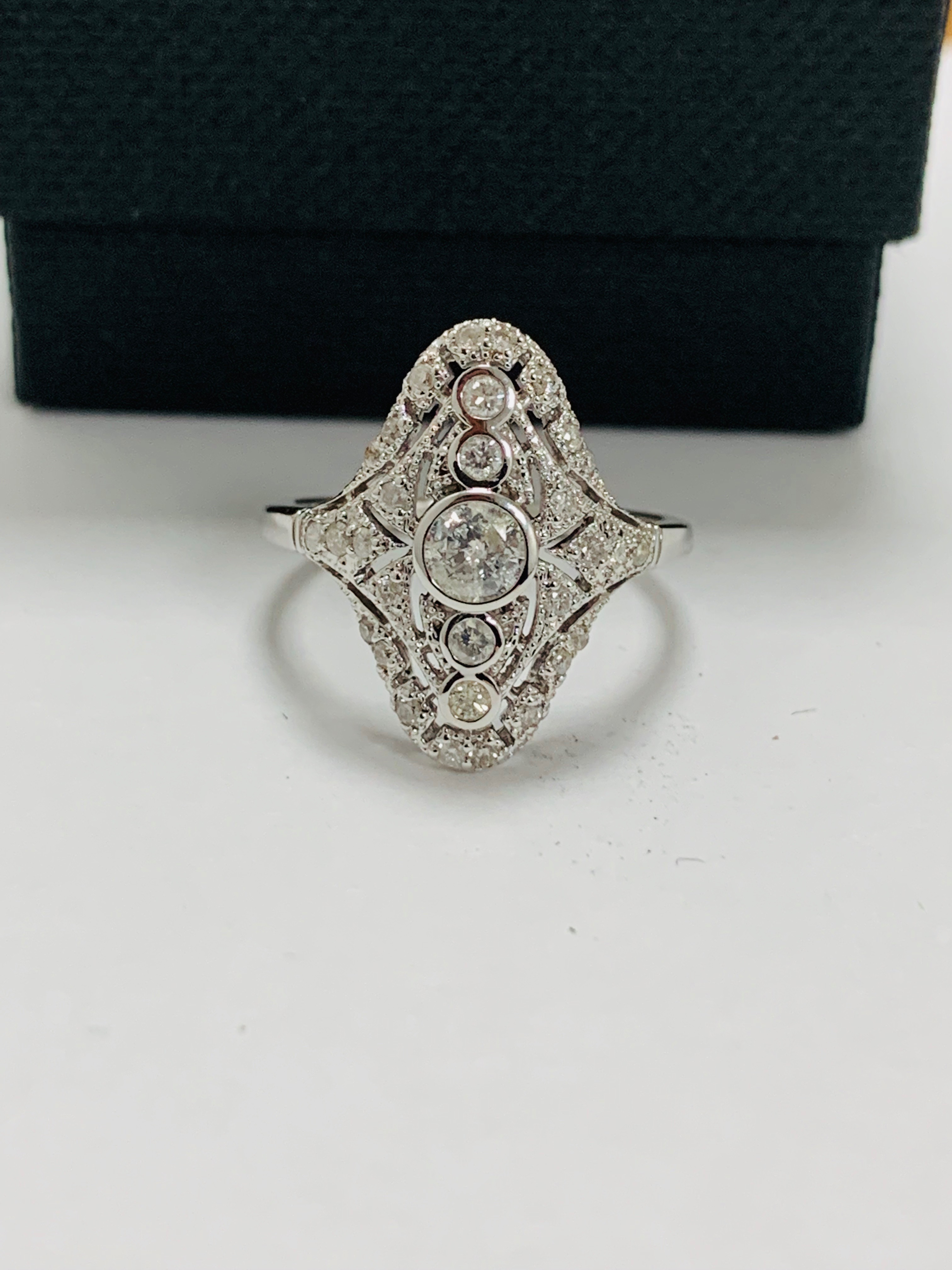 18ct white gold diamond ring. - Image 9 of 11