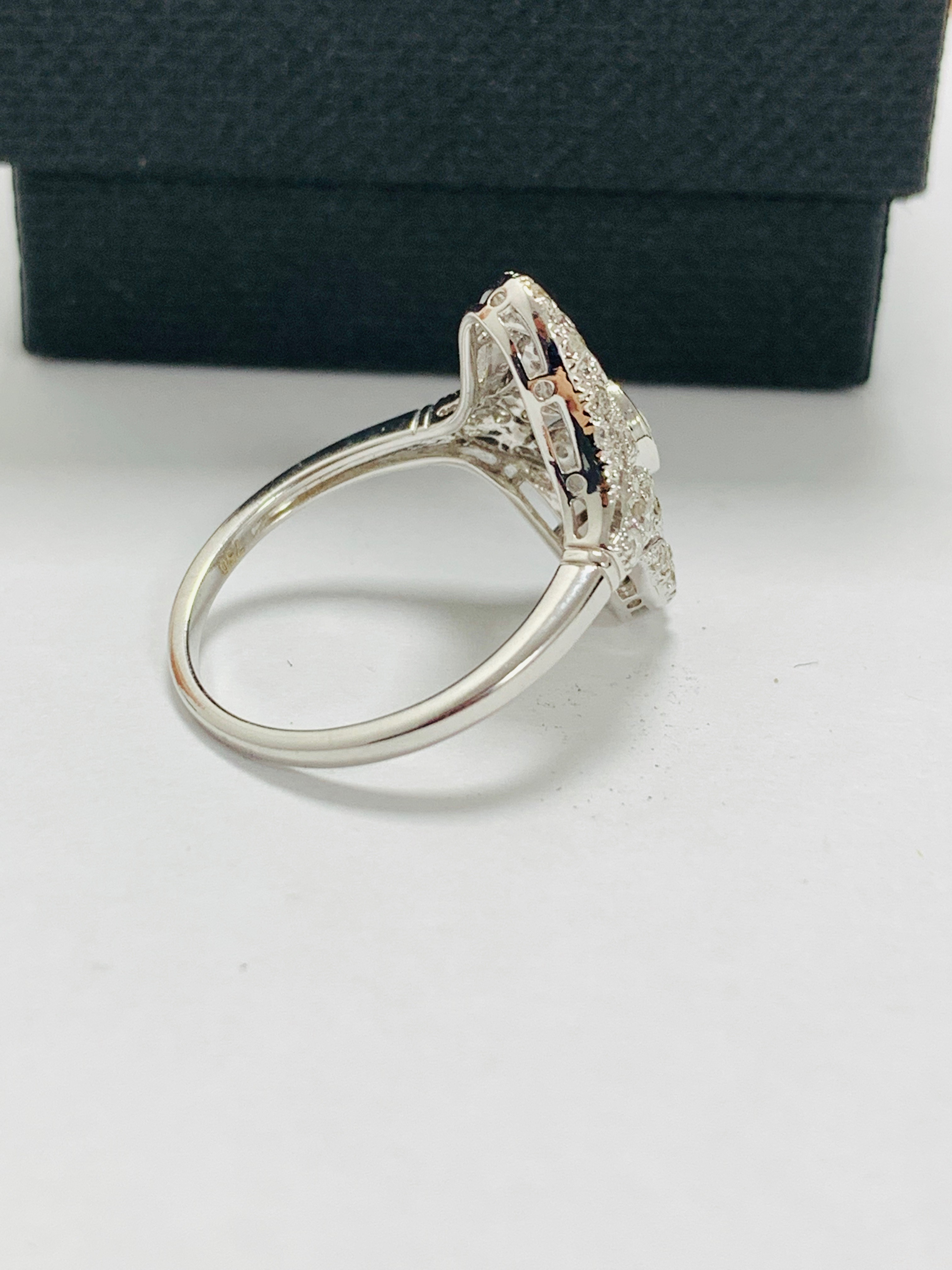 18ct white gold diamond ring. - Image 5 of 11
