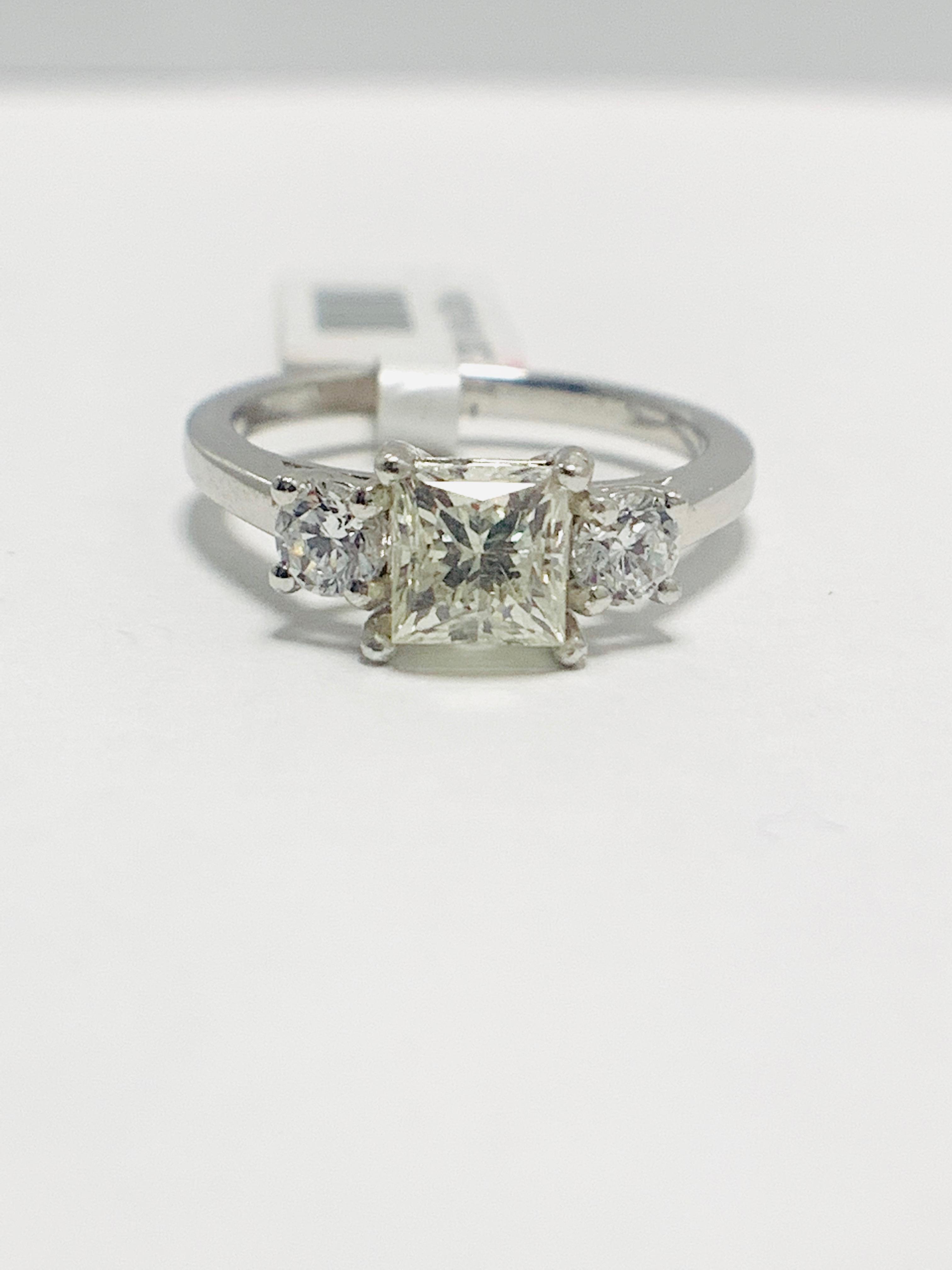 Platinum diamond three stone ring 1.50ct