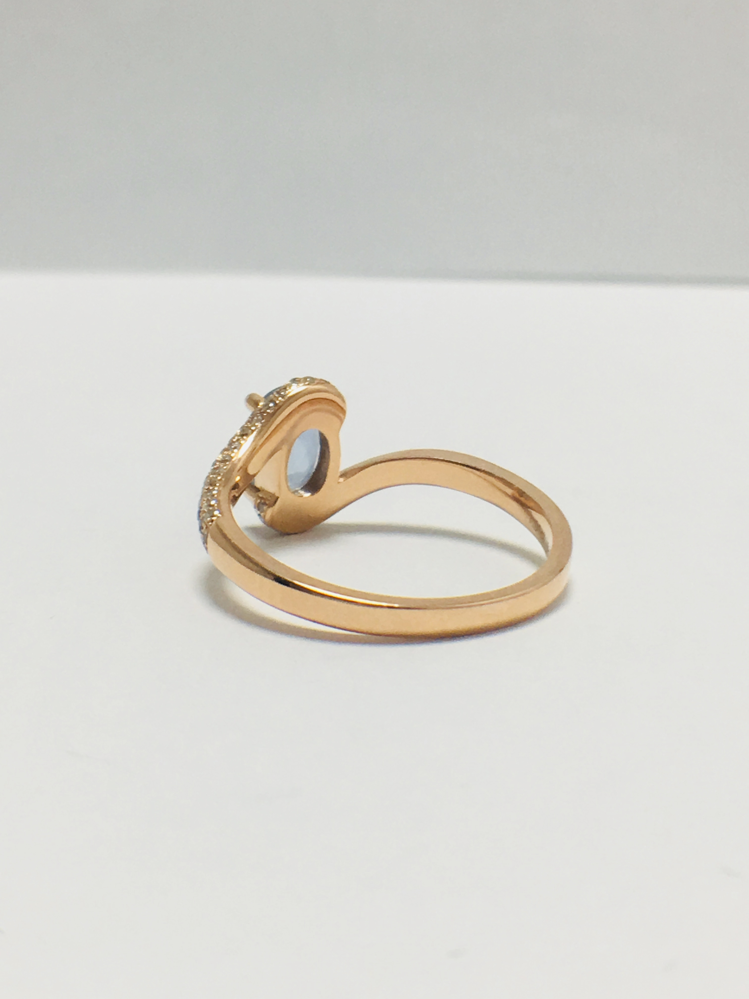 14ct rose gold sapphire and diamond ring - Image 4 of 9