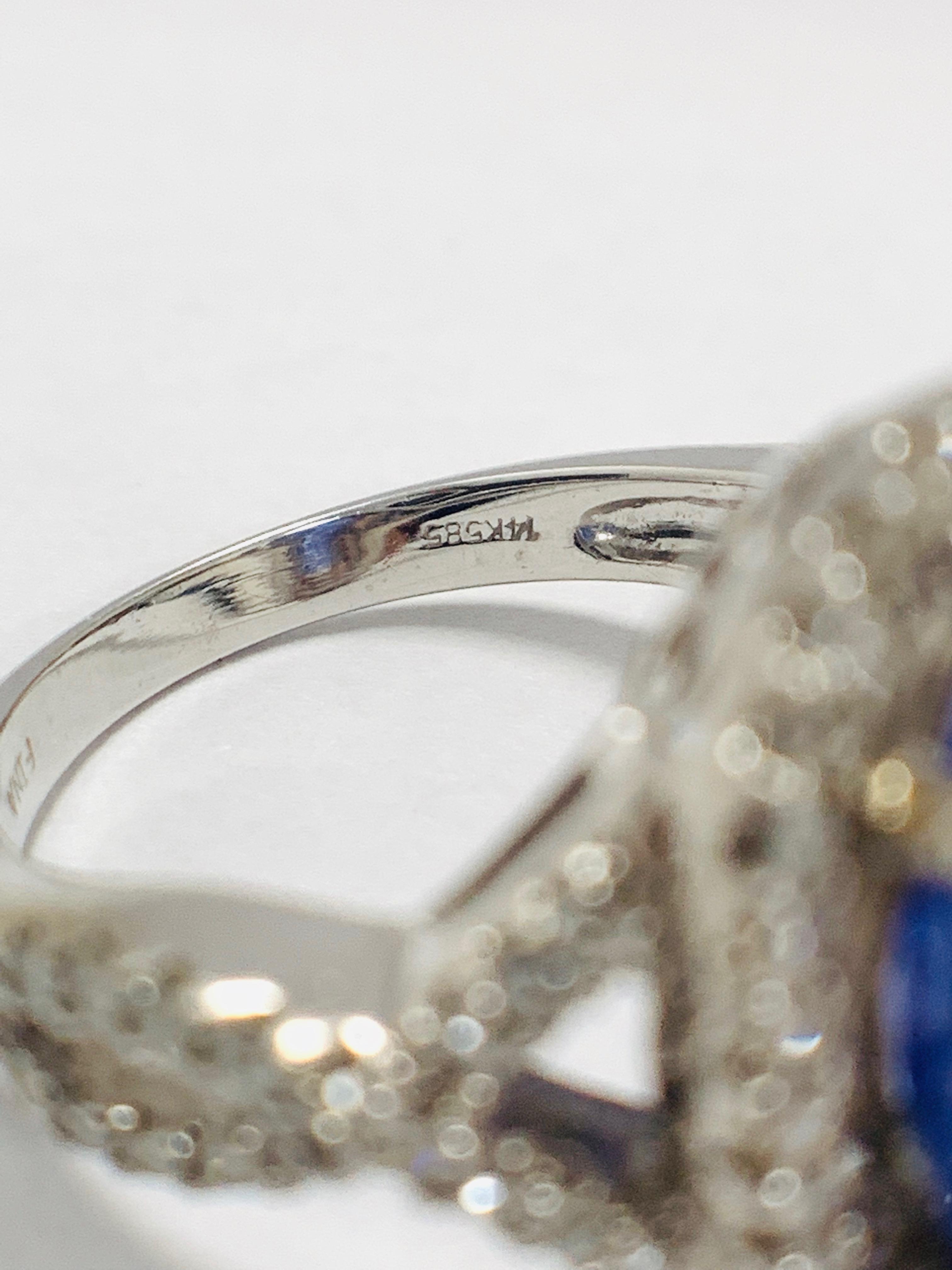 18ct White Gold Tanzanite and Diamond ring - Image 10 of 15