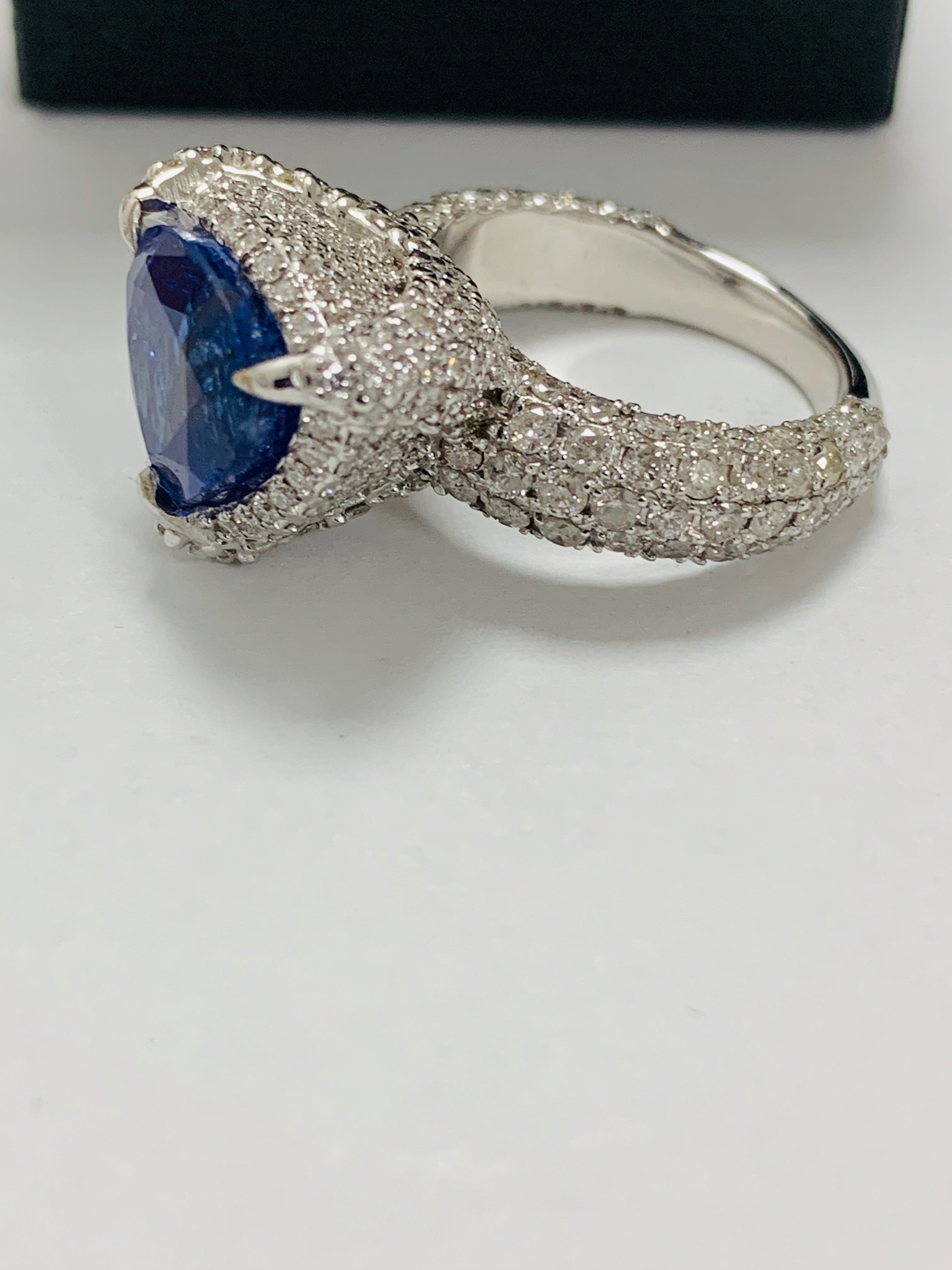 platinum tanzanite ring - Image 4 of 13
