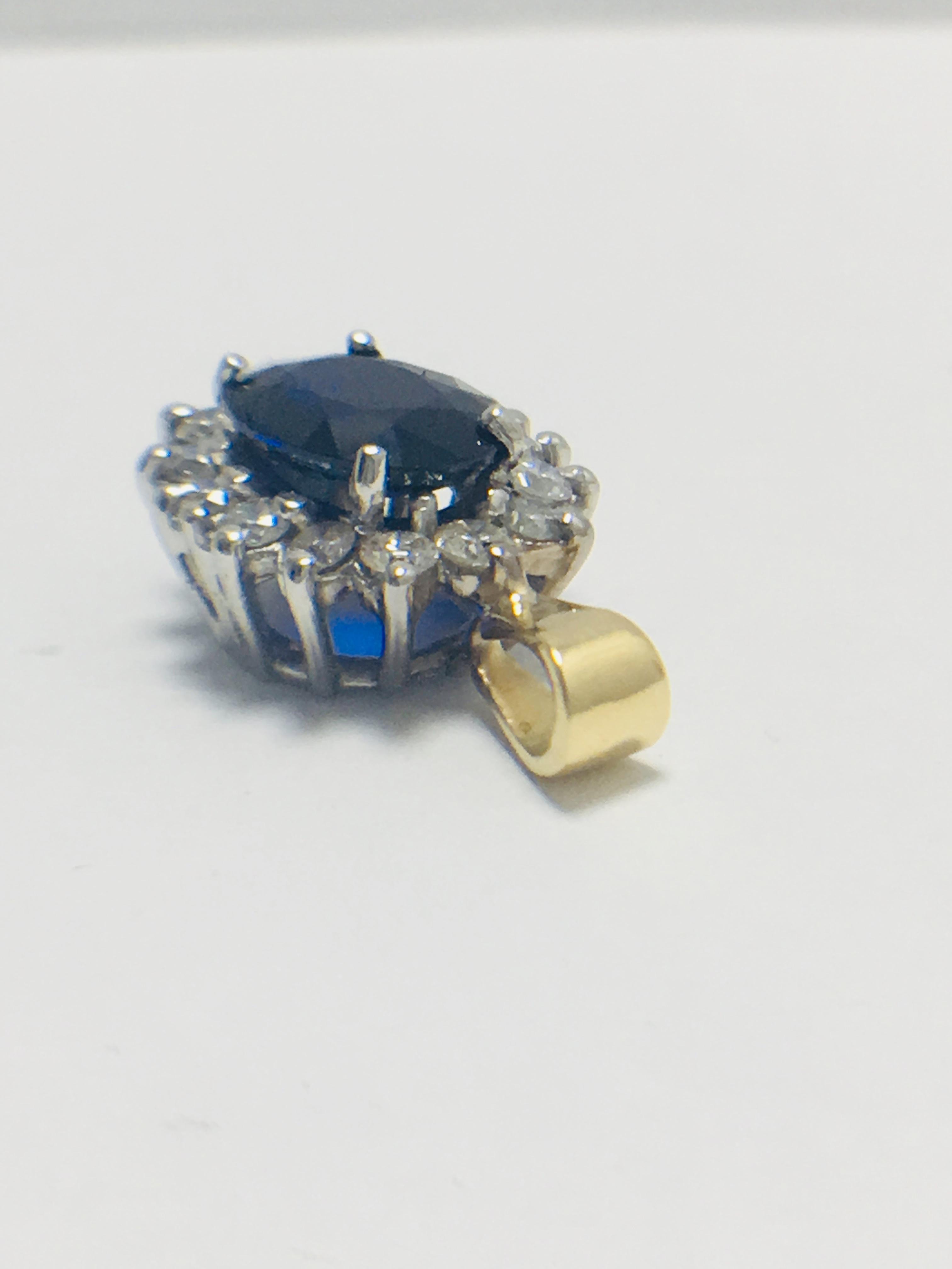 Sapphire and Diamond pendant,18ct gold - Image 2 of 7