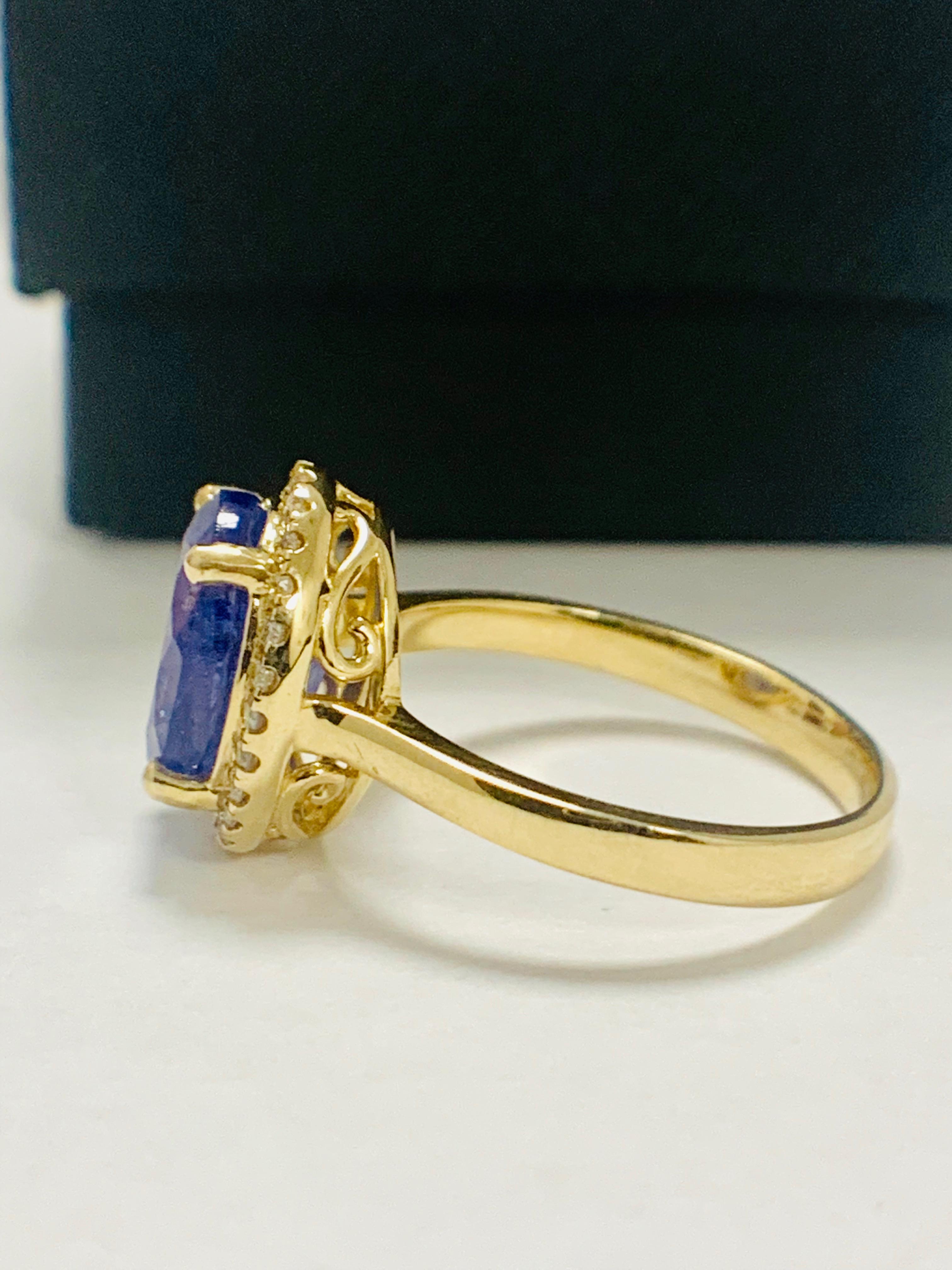 14ct Yellow Gold Tanzanite and Diamond ring - Image 4 of 13