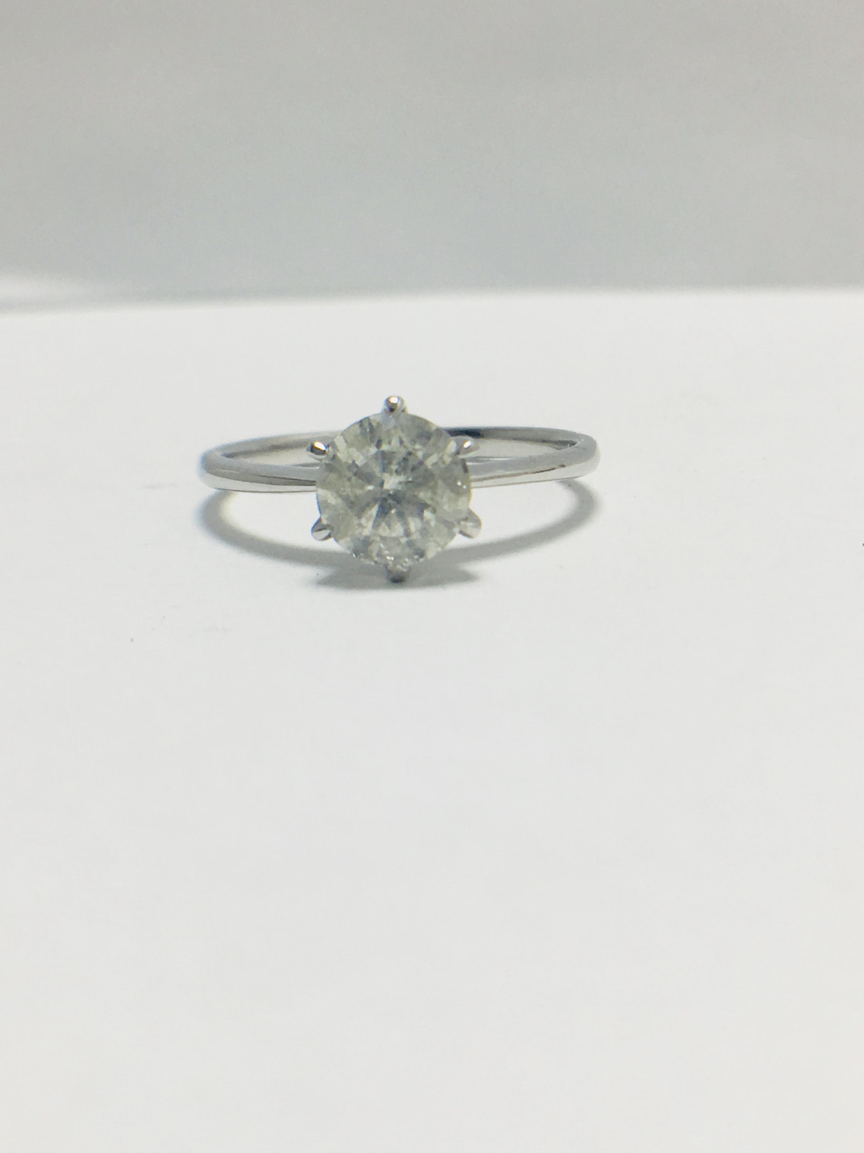 1ct platinum Diamond solitaire ring - Image 8 of 10