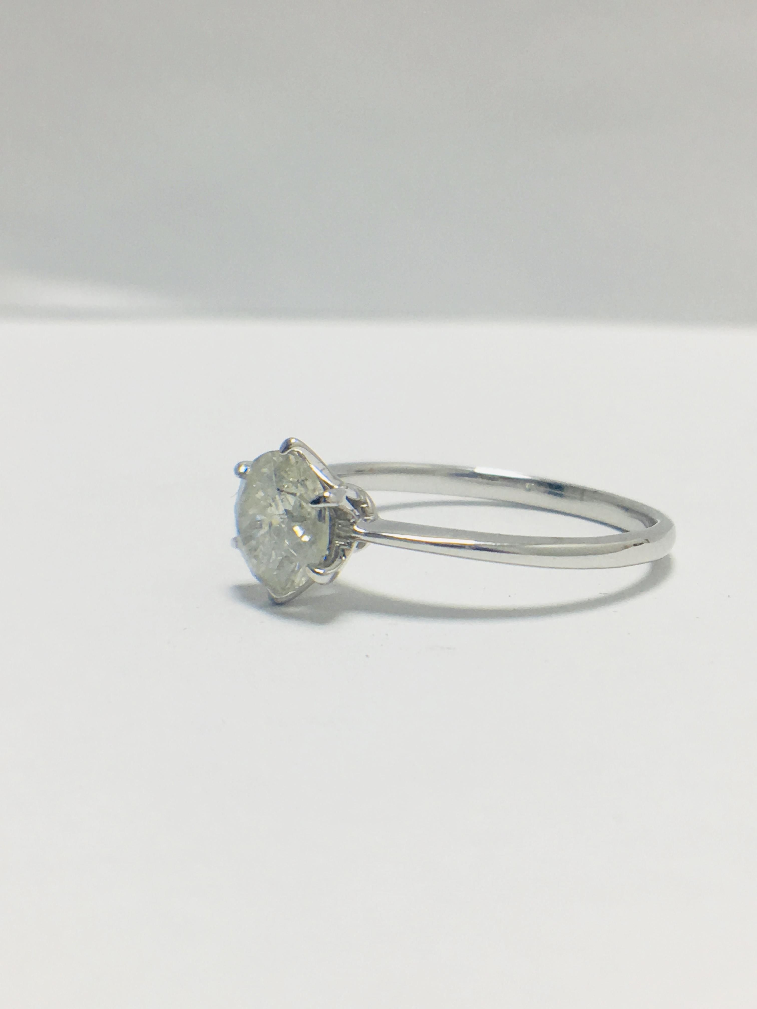 1ct platinum Diamond solitaire ring - Image 2 of 10