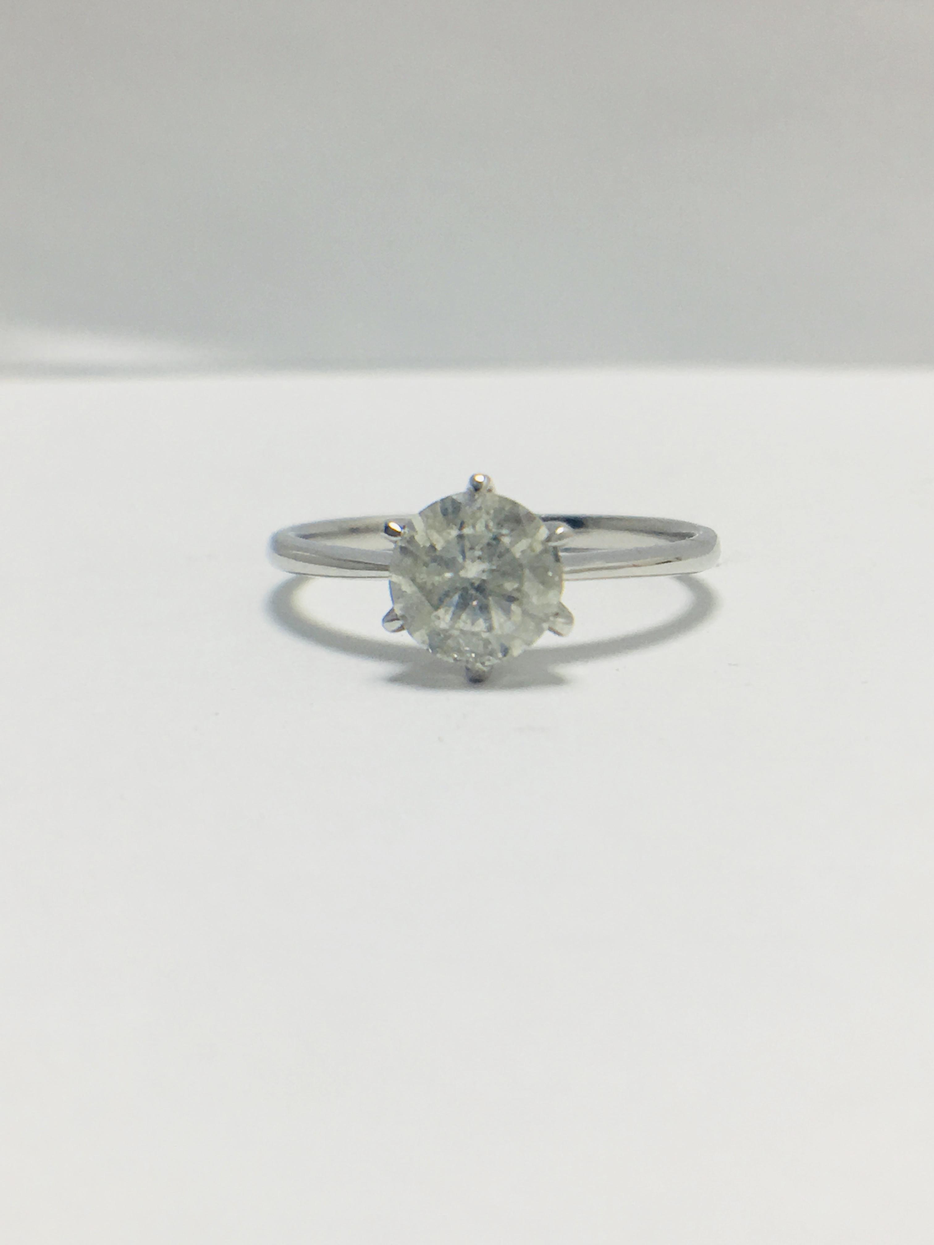 1ct platinum Diamond solitaire ring