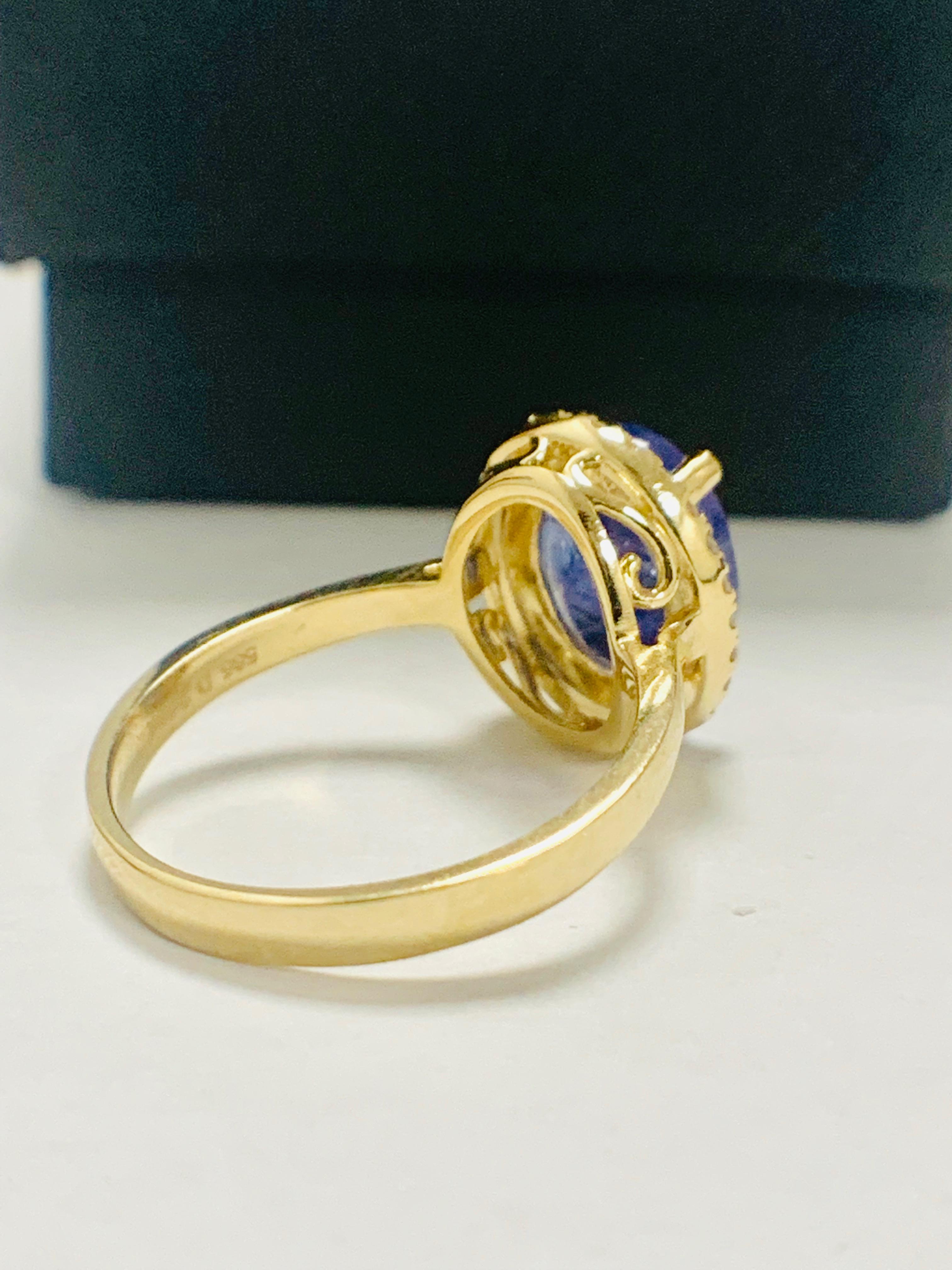 14ct Yellow Gold Tanzanite and Diamond ring - Image 7 of 13