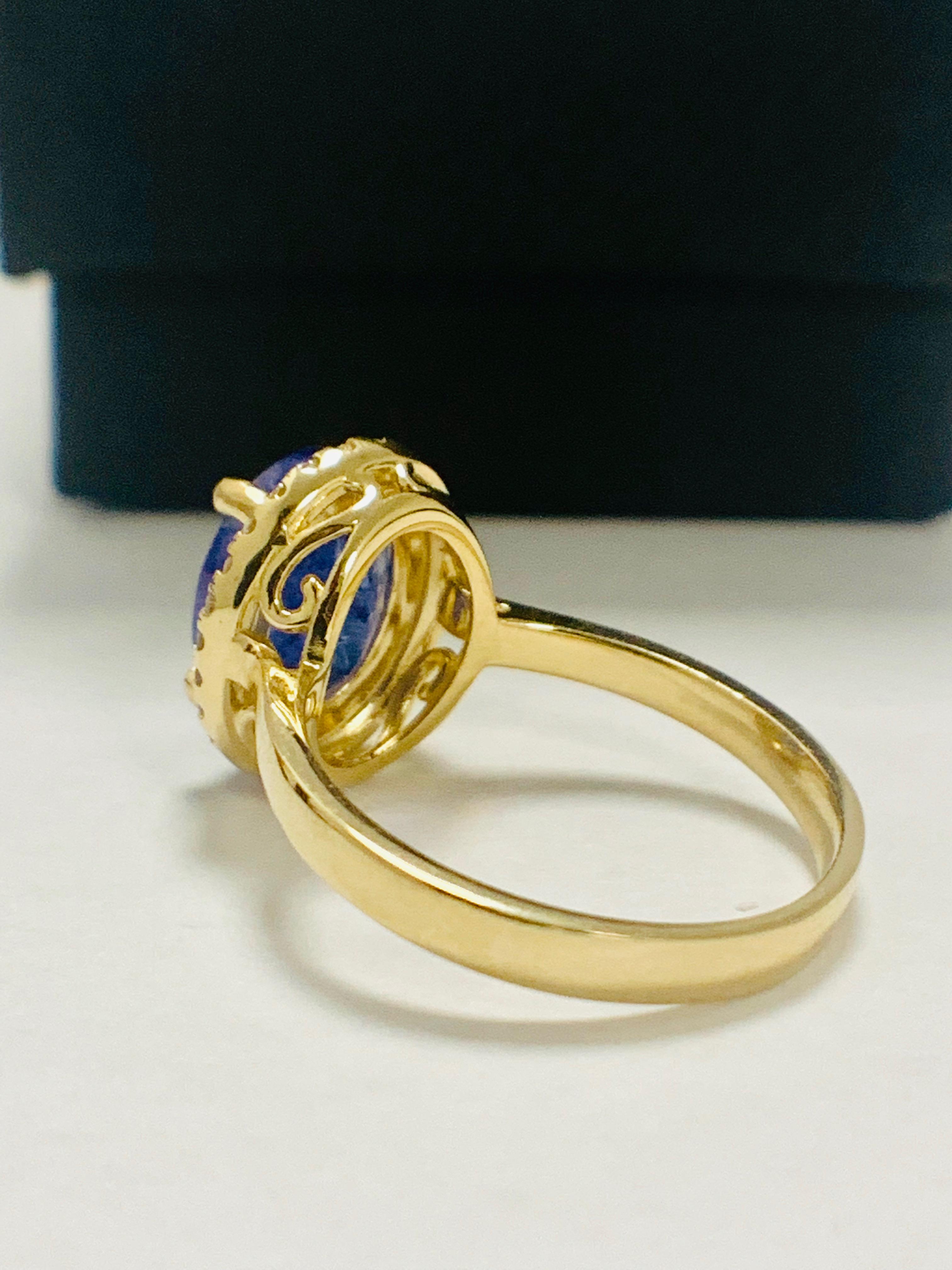 14ct Yellow Gold Tanzanite and Diamond ring - Image 5 of 13
