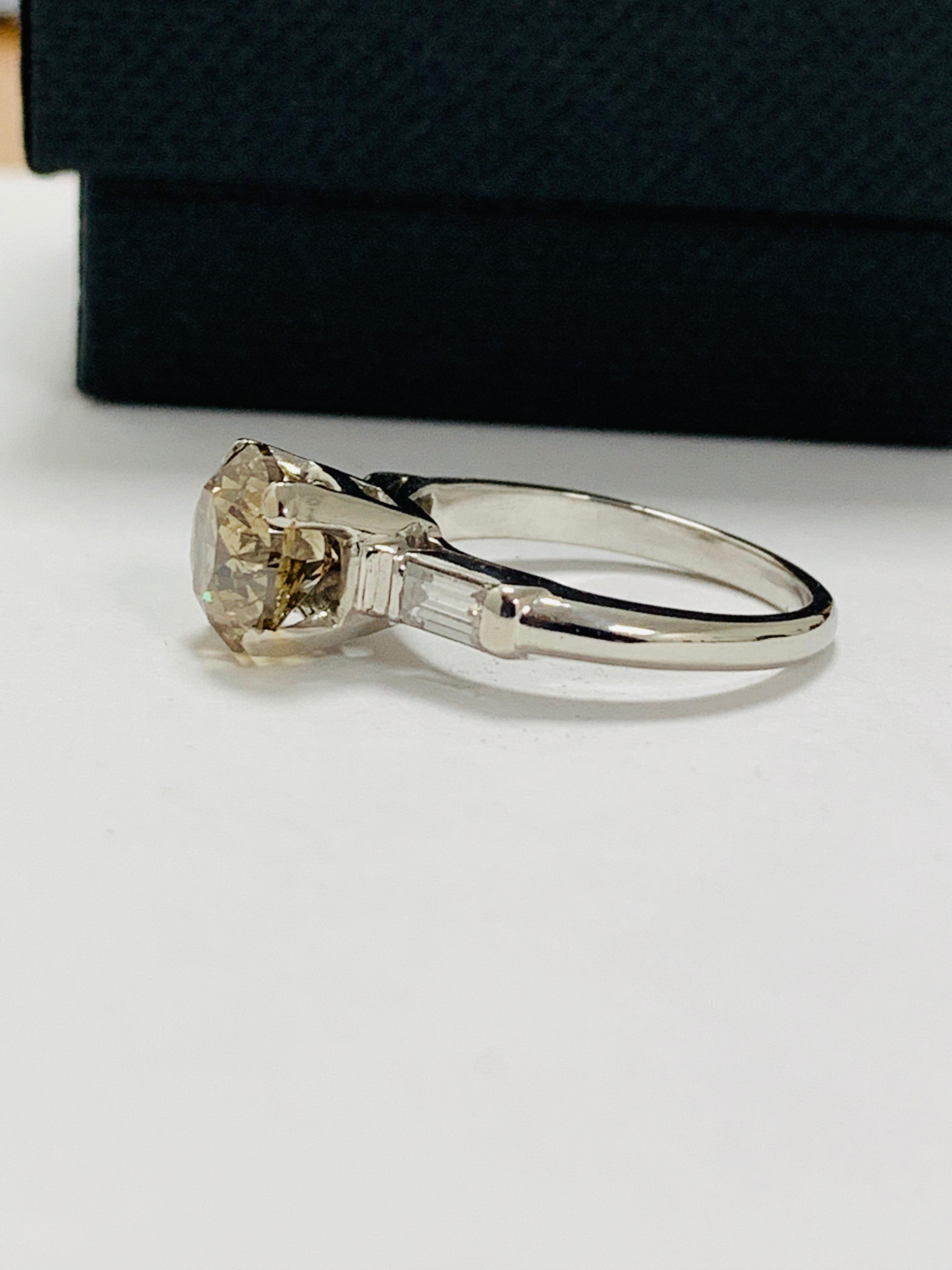 14ct white gold diamond ring. - Image 3 of 11