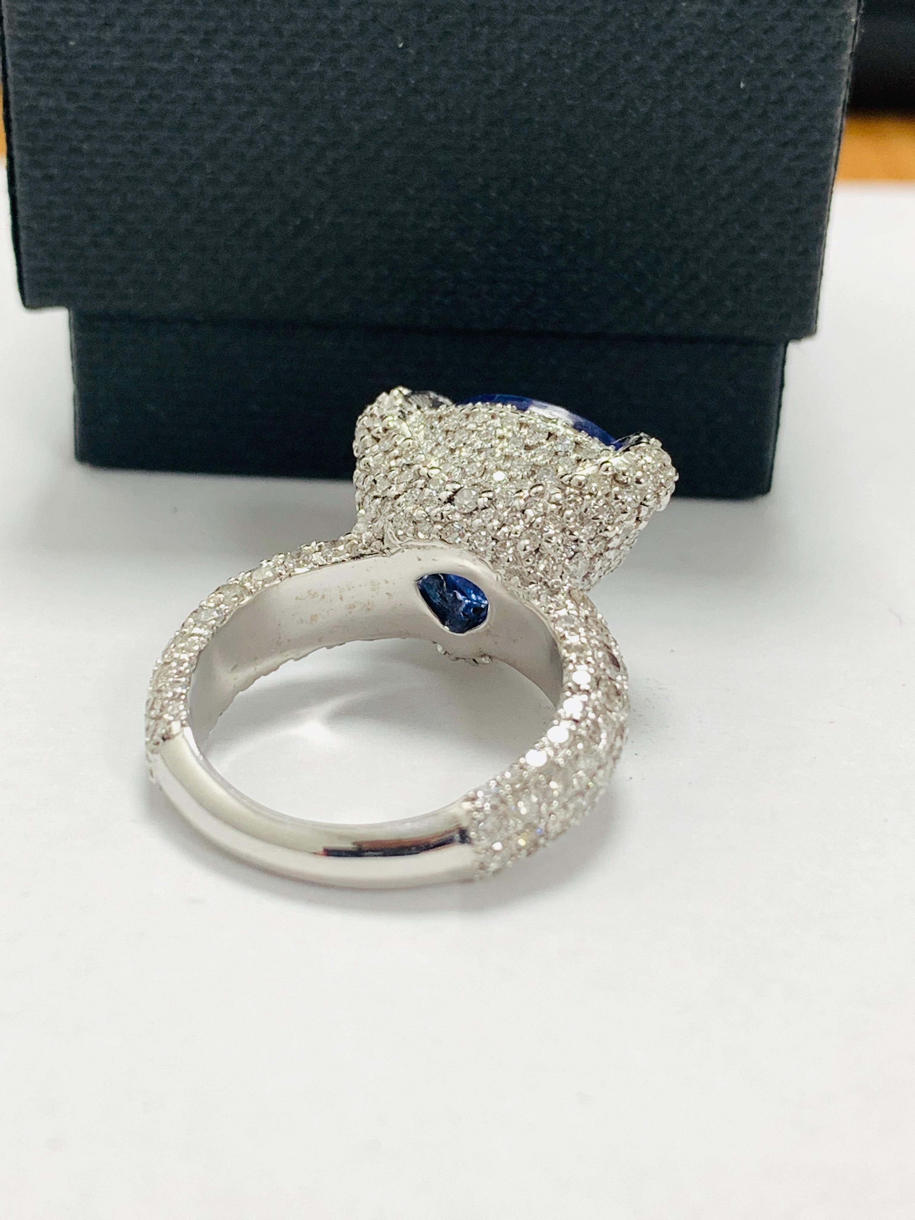 platinum tanzanite ring - Image 7 of 13