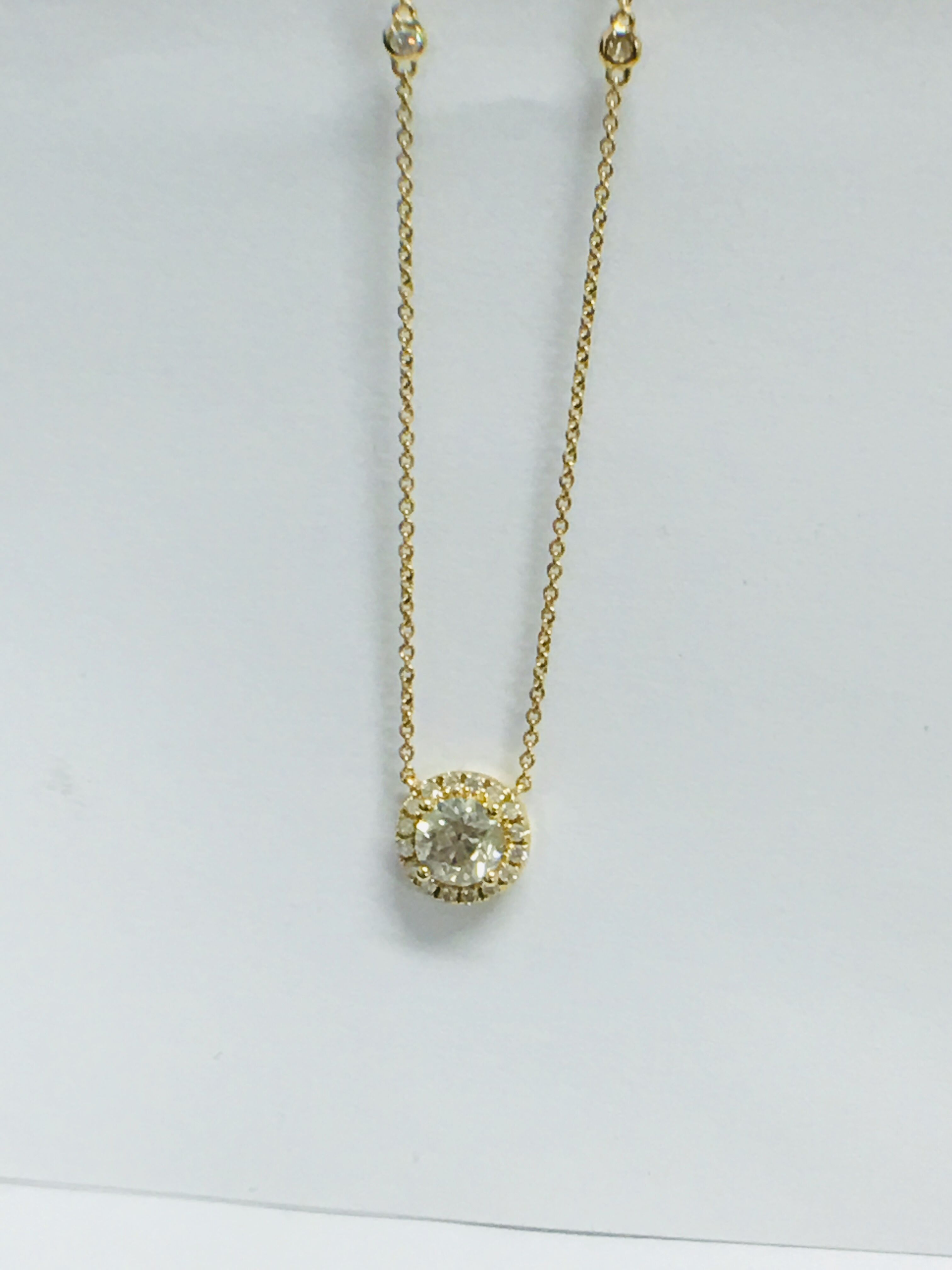 18ct yellow gold diamond necklace. tdw. - Image 9 of 10