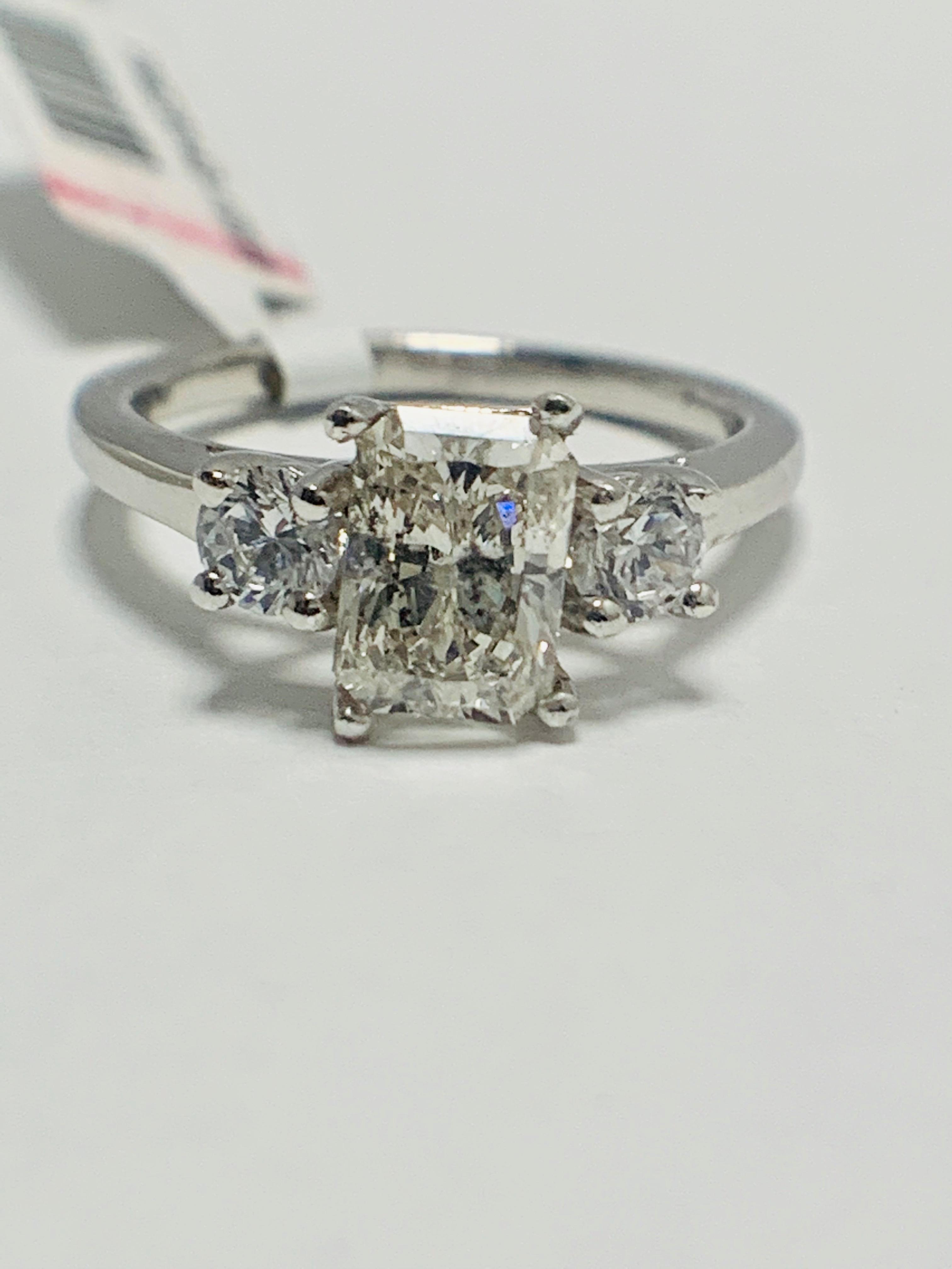 1.50ct trilogy platinum diamond ring
