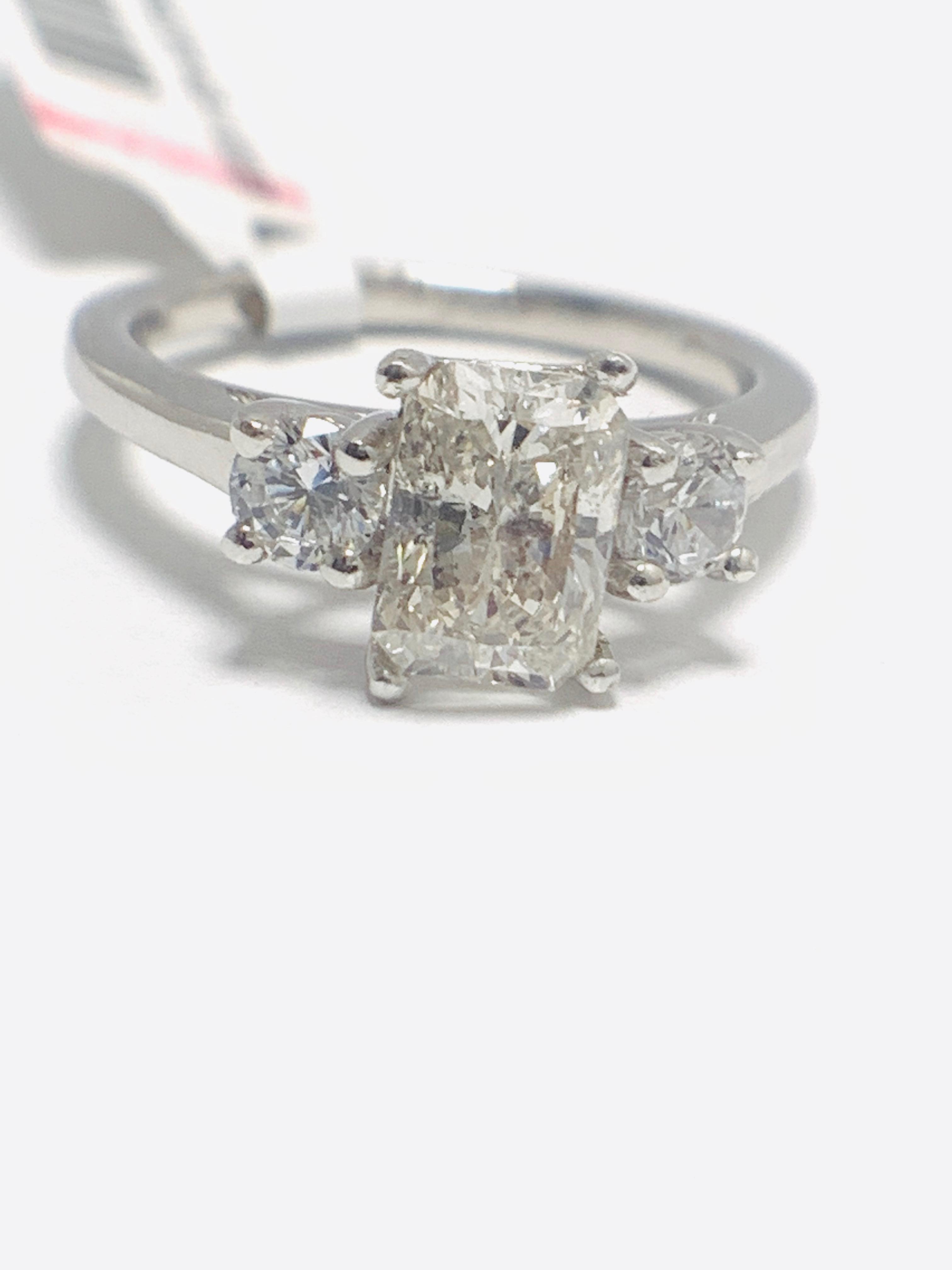 1.50ct trilogy platinum diamond ring - Image 9 of 10