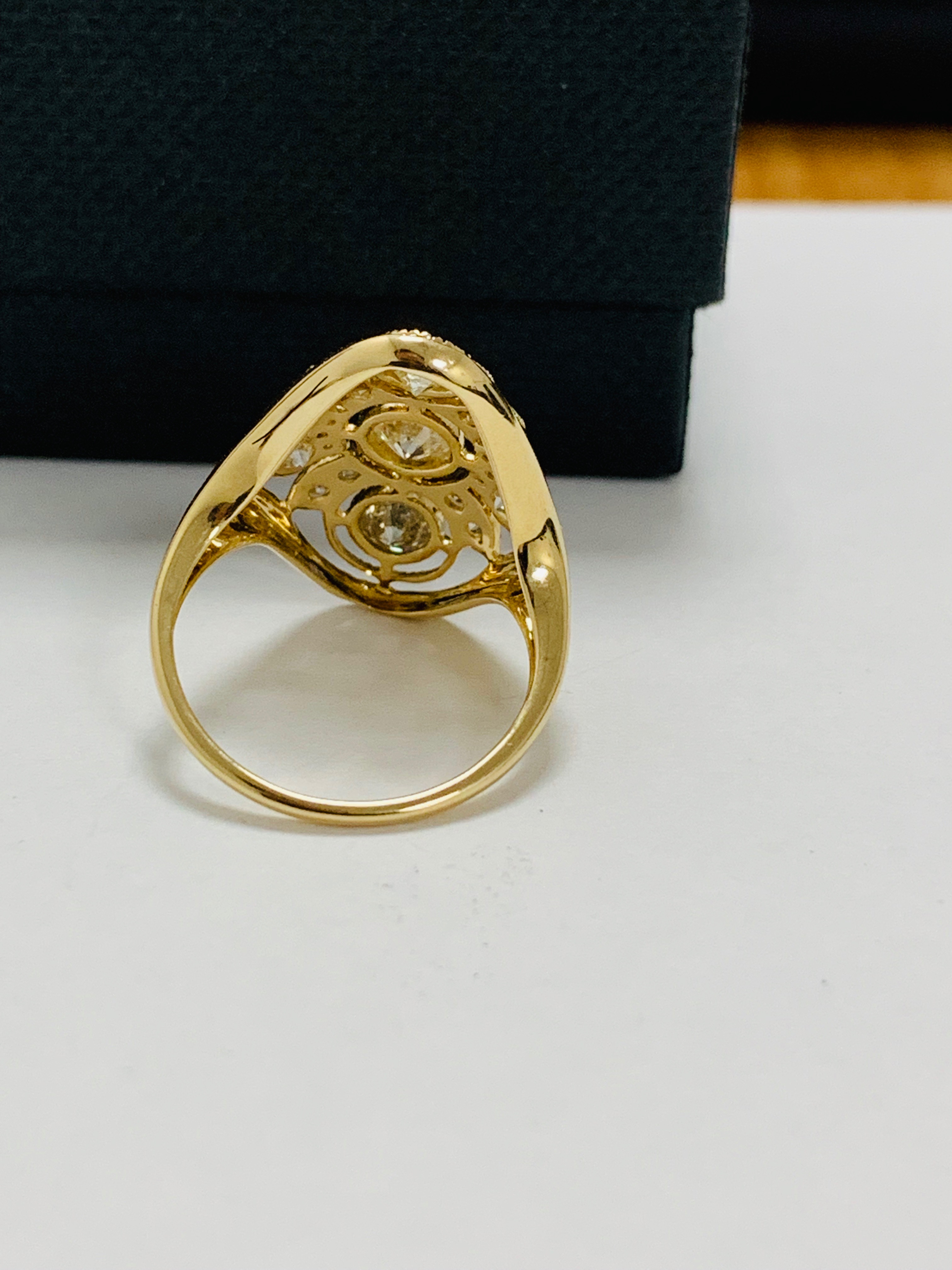 14ct yellow gold diamond ring. - Image 5 of 11