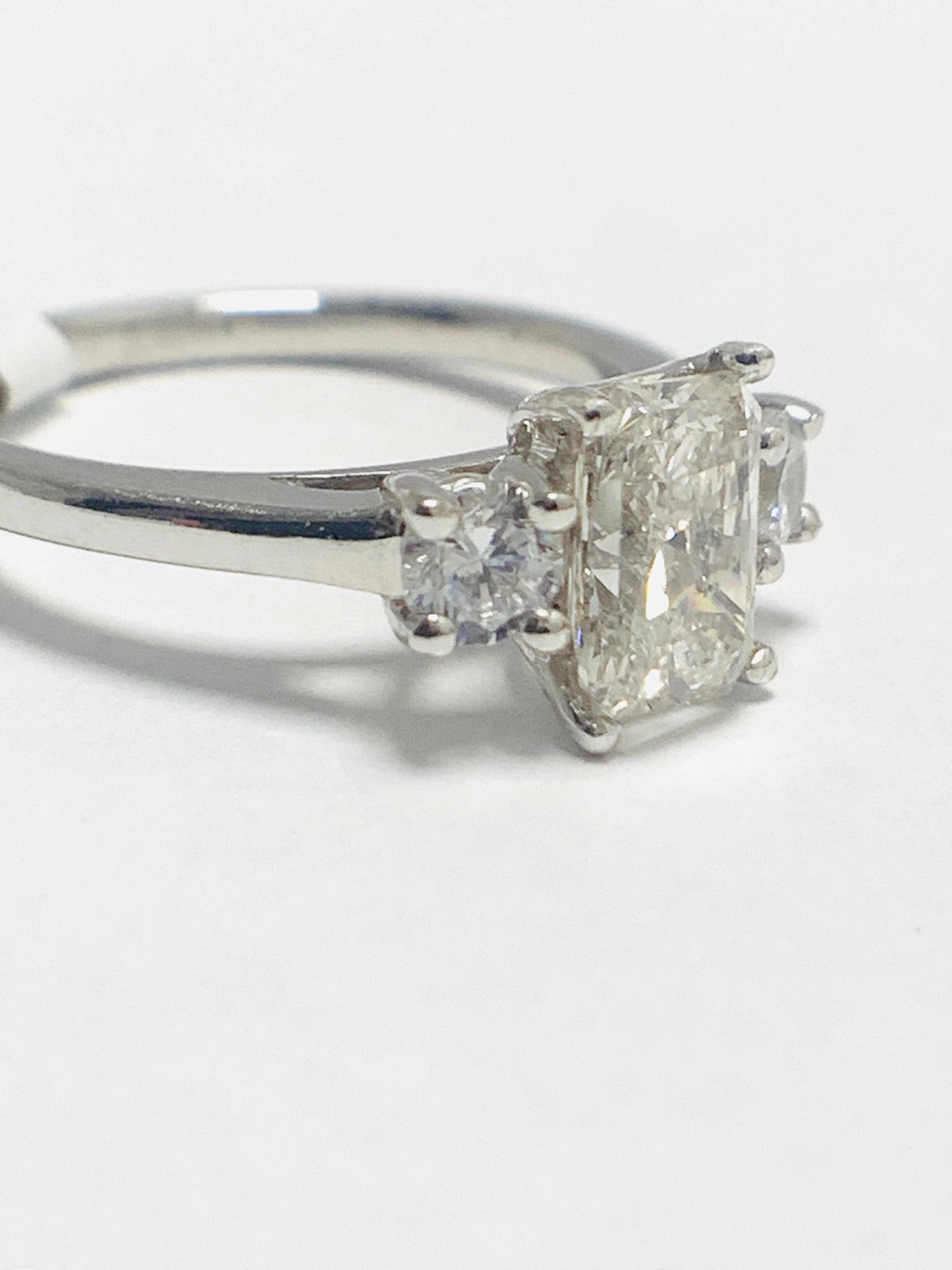 1.50ct trilogy platinum diamond ring - Image 8 of 10