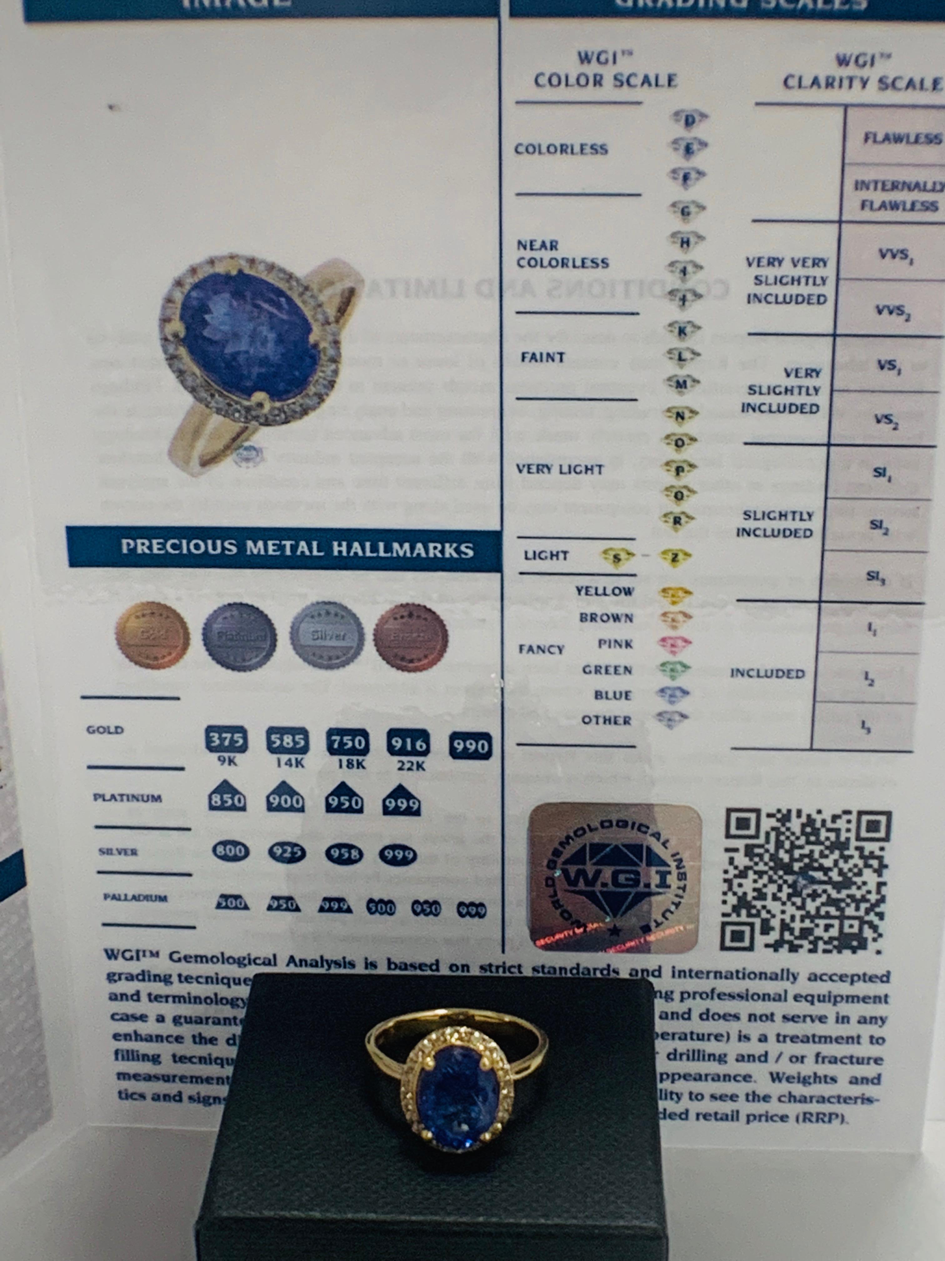 14ct Yellow Gold Tanzanite and Diamond ring - Image 13 of 13