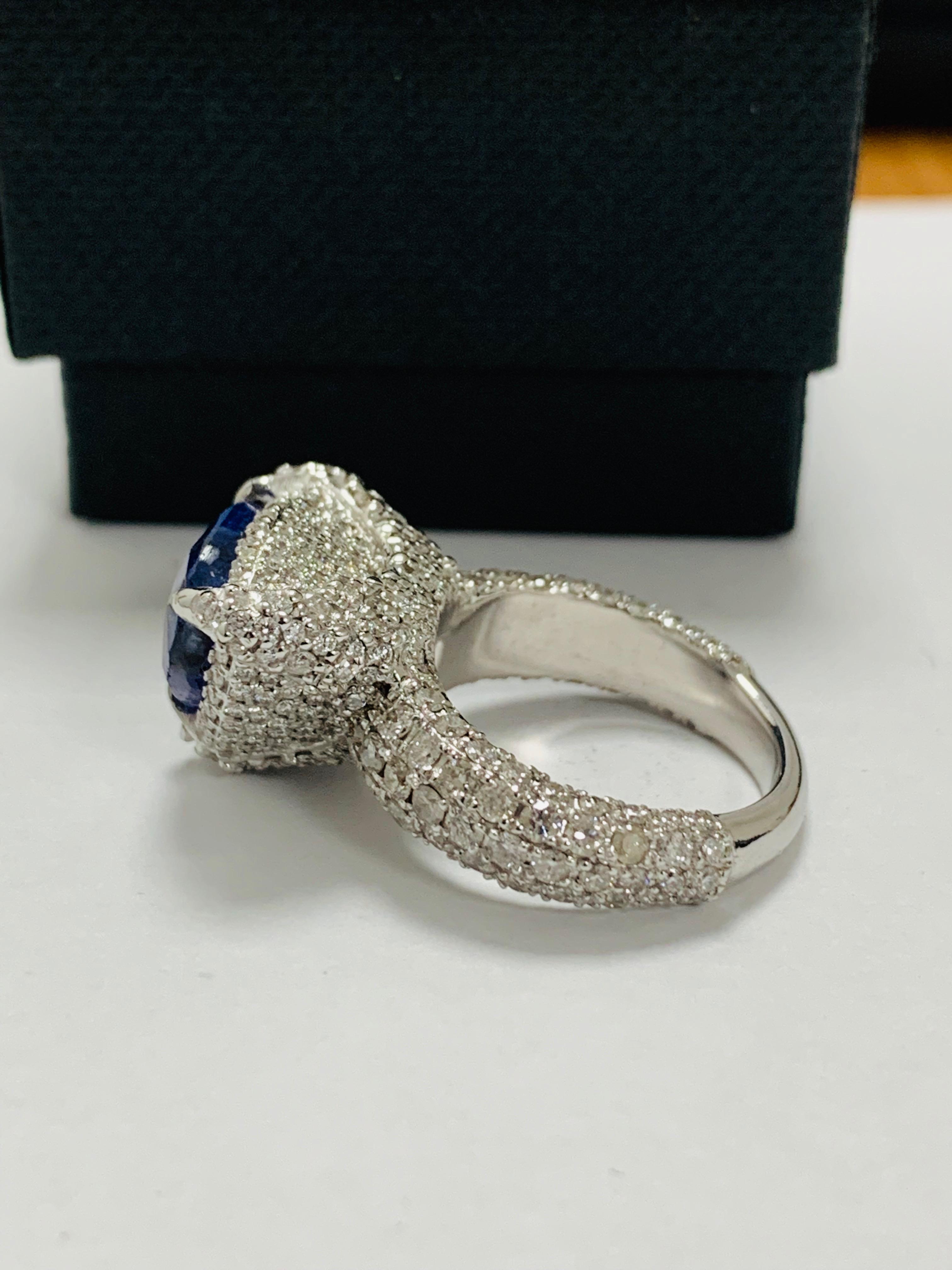 platinum tanzanite ring - Image 5 of 13