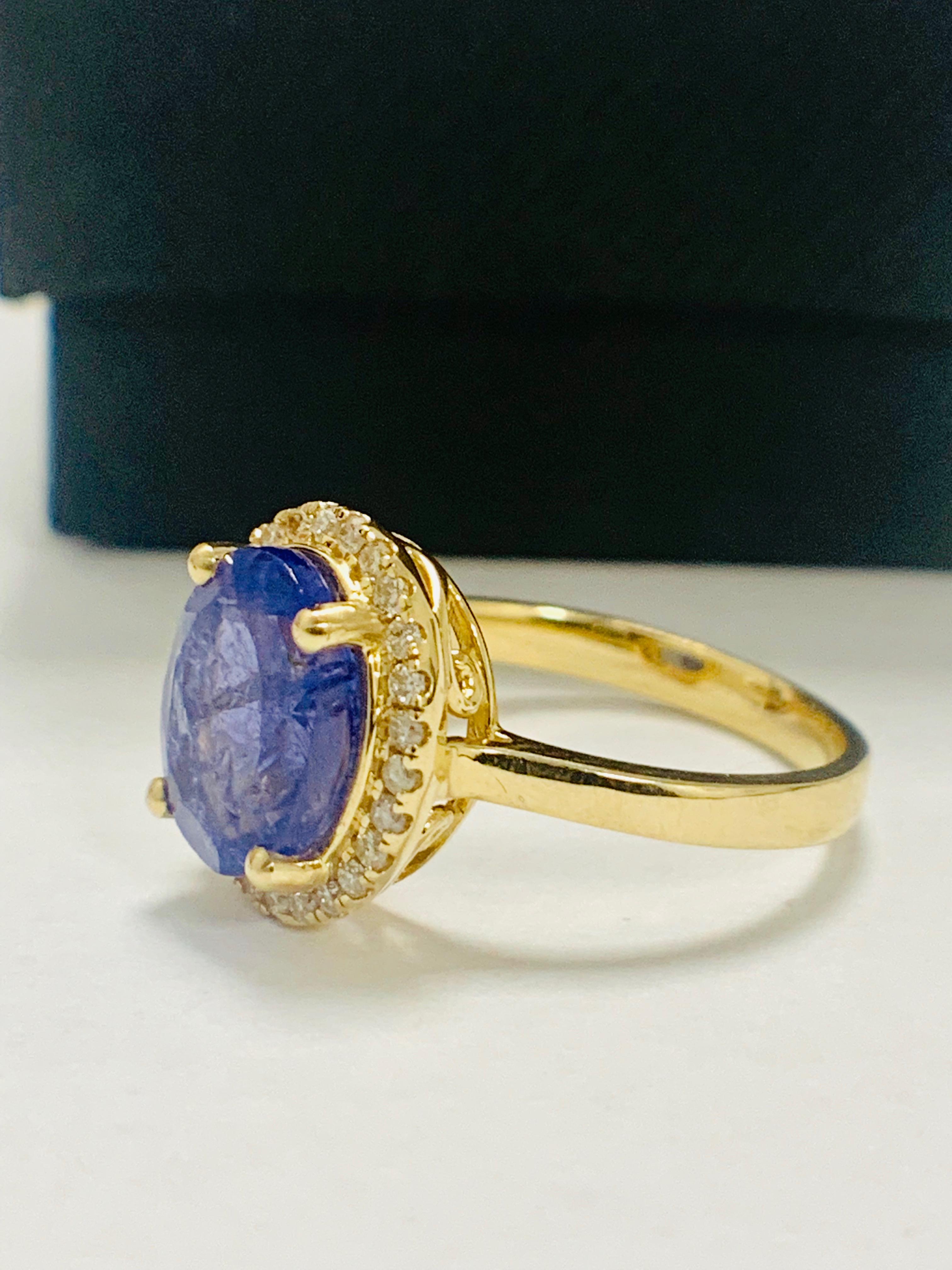 14ct Yellow Gold Tanzanite and Diamond ring - Image 3 of 13