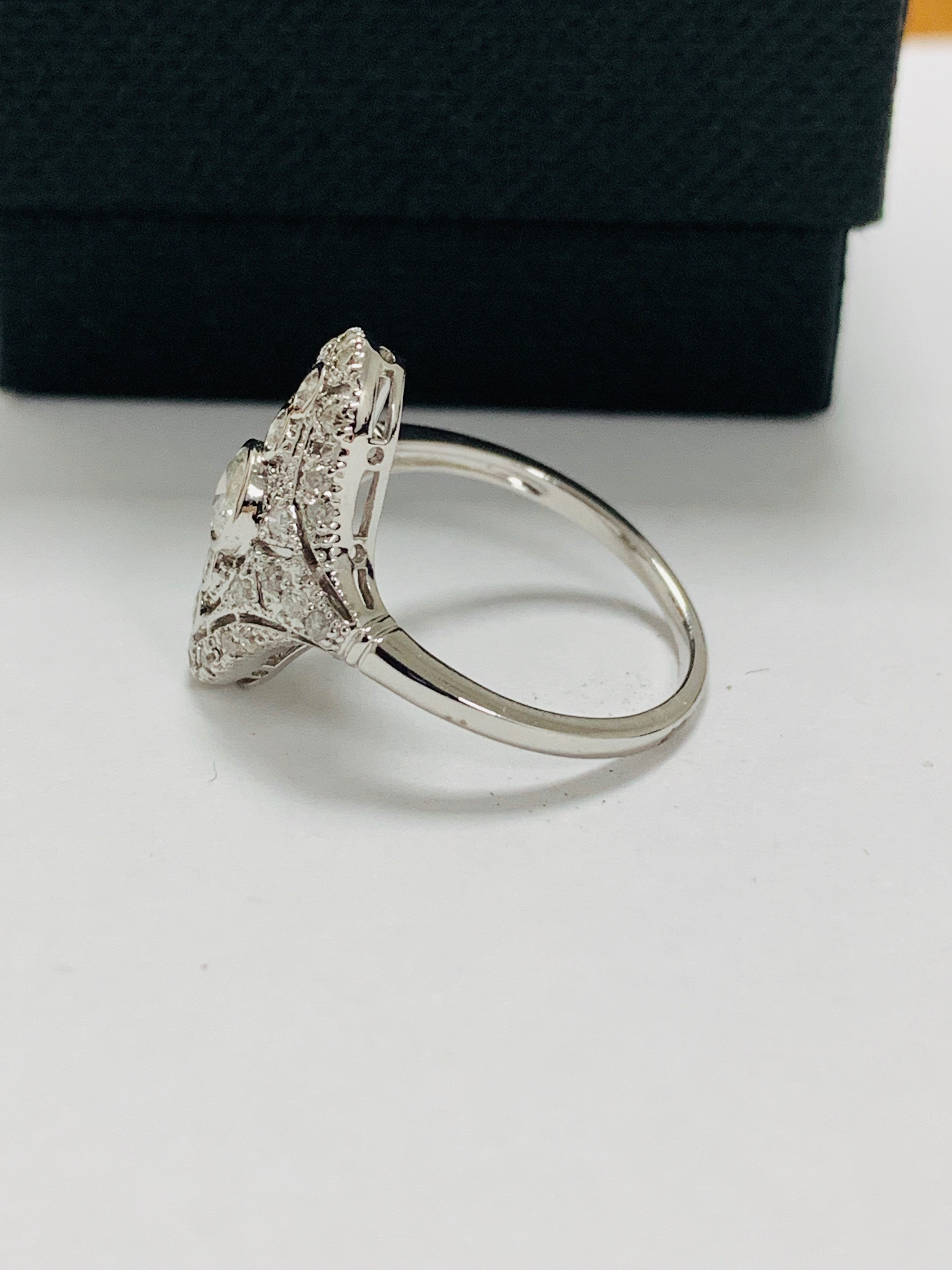 18ct white gold diamond ring. - Image 3 of 11