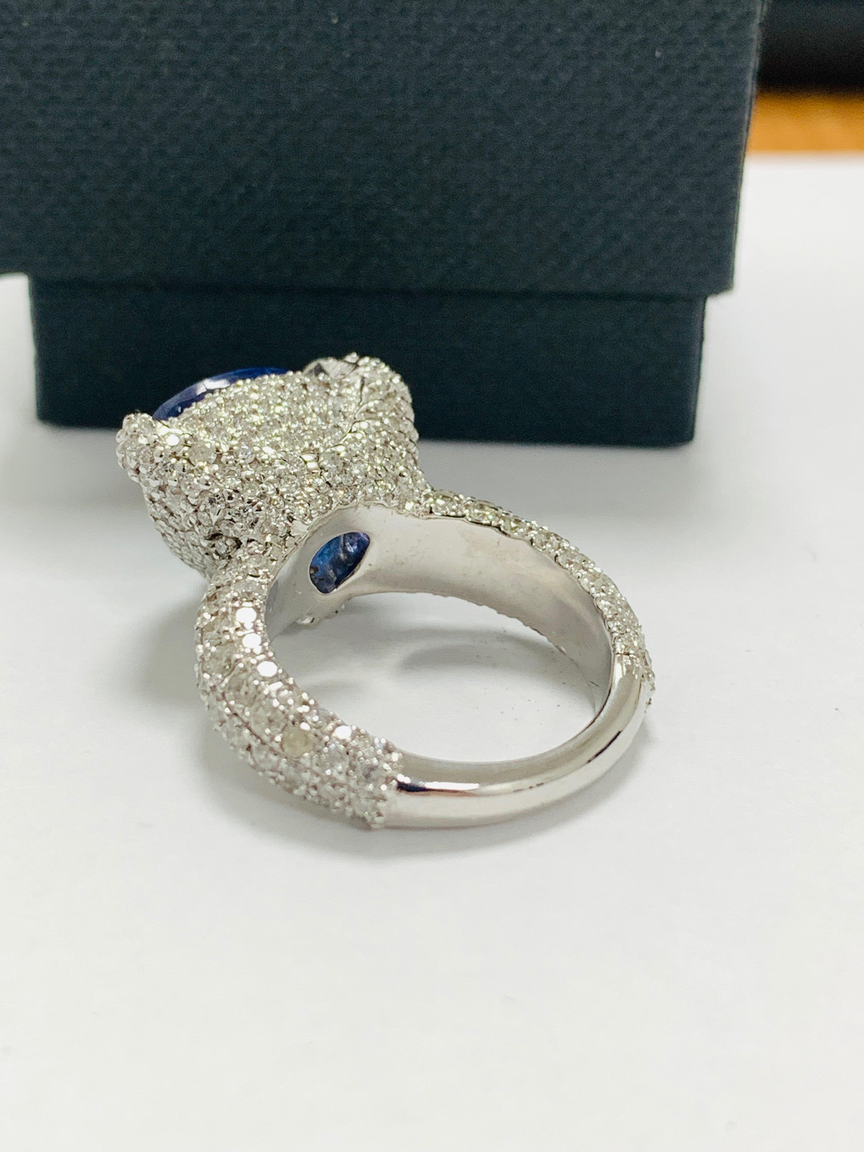 platinum tanzanite ring - Image 6 of 13