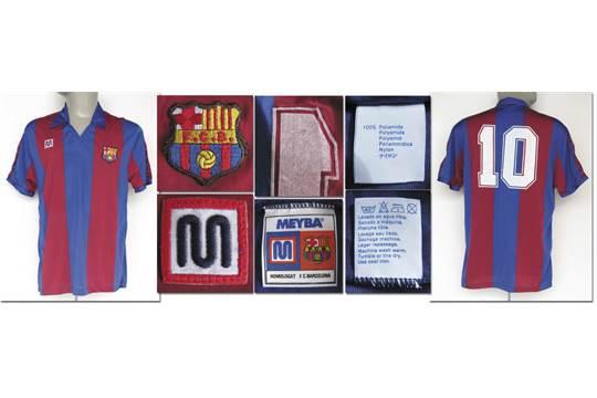 47a8c7323 match worn football shirt FC Barcelona 1982 83 - Original match worn ...