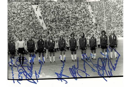 Autographs Germany World Cup 1974 Wm 1974 Fussball