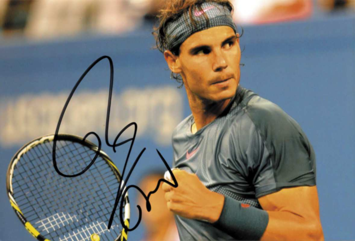 Tennis Autograph Rafael Nadal Colour Photo With Original Signature Of World Class Tennis Playe