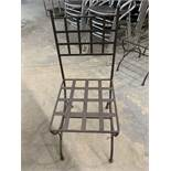 (6) Chaises patio - fer