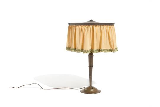 Otto prutscher attributed table lamp austria c 1920 brass otto prutscher attributed table lamp austria c 1920 brass cloth lamp shade austria around aloadofball Choice Image