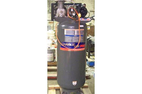 charge air pro 5 hp 60 gal stand up air compressor not tested