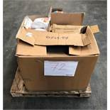 1 LOT TO CONTAIN ASSORTED STATIONERY EQUIPMENT / INCLUDES HAND SOAP DISPENSER, COAT HANGERS AND CAT6