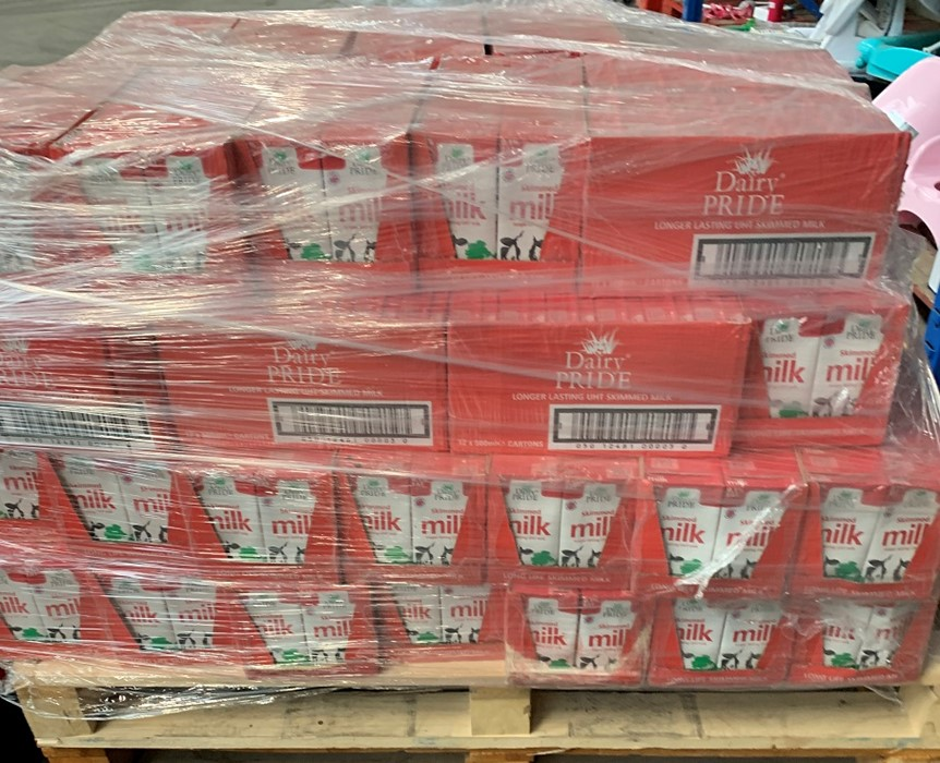 Lotto 27 - 1 LOT TO CONTAIN 600 CARTONS OF DAIRY PRIDE LONGER LASTING UHT SKIMMED MILK (500ML) / BEST BEFORE