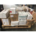 1 LOT TO CONTAIN ASSORTED STATIONARY EQUIPMENT / INCLUDES CARDBOARD, SHRINK WRAP, SECURITY TAGS,