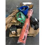 1 LOT TO CONTAIN ASSORTED DIY AND BUILDING MATERIALS / INCLUDING MORTAR PLASTICISER, BROOM HANDLES