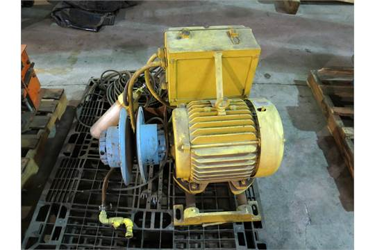 Electric motor baldor 15 hp w variable pitch pulley for Baldor 15 hp motor