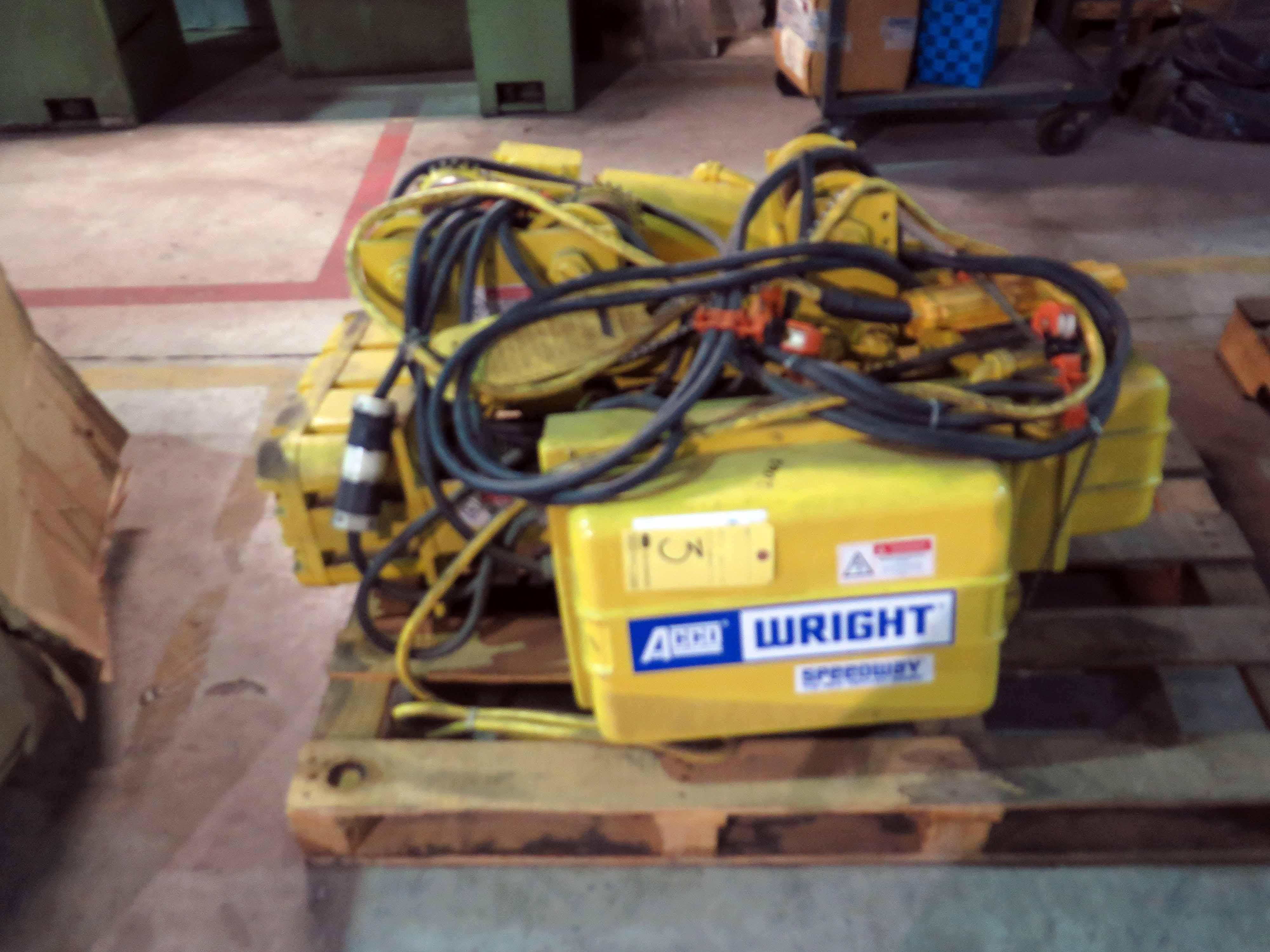 Unitized Hoist Amp Trolley Unit Acco Wright Speedway 3 T Cap Wiring Diagram Lot