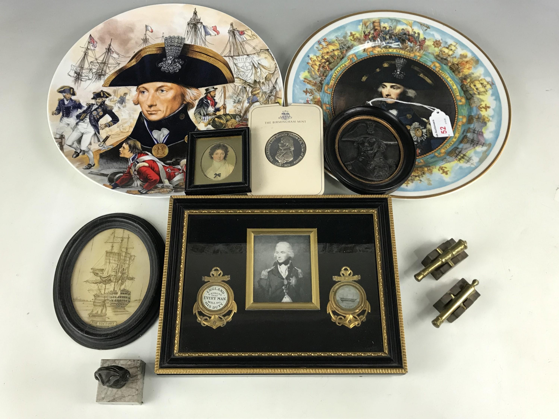 Lot 52 - A quantity of Nelson / Trafalgar / HMS Victory memorabilia