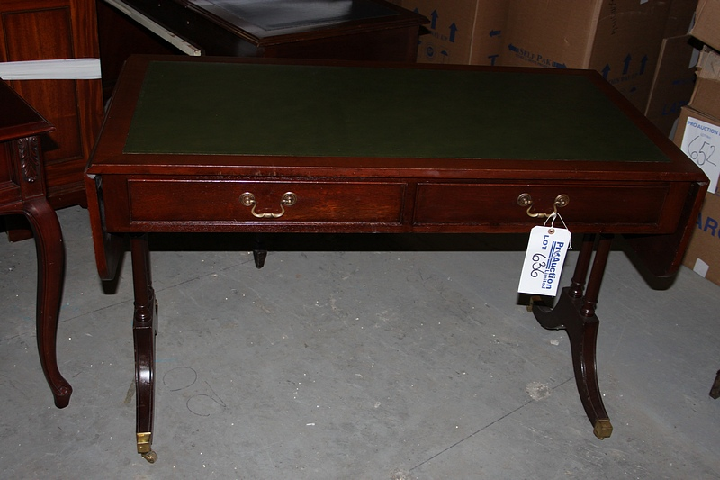 A georgian style mahogany sofa writing table central for Sofa central table