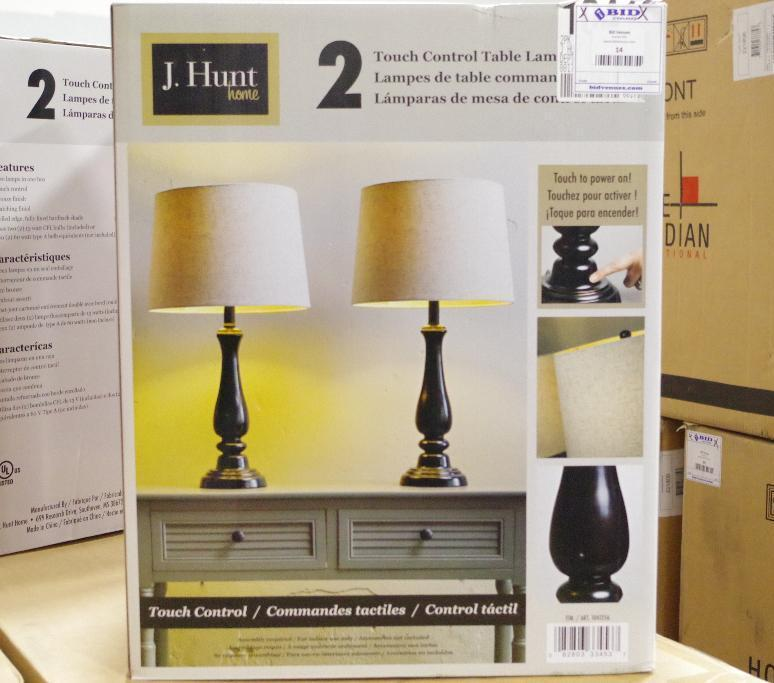 Lot 102 - NEW J. HUNT Touch Control Table Lamps (Box Contains 2 Lamps)