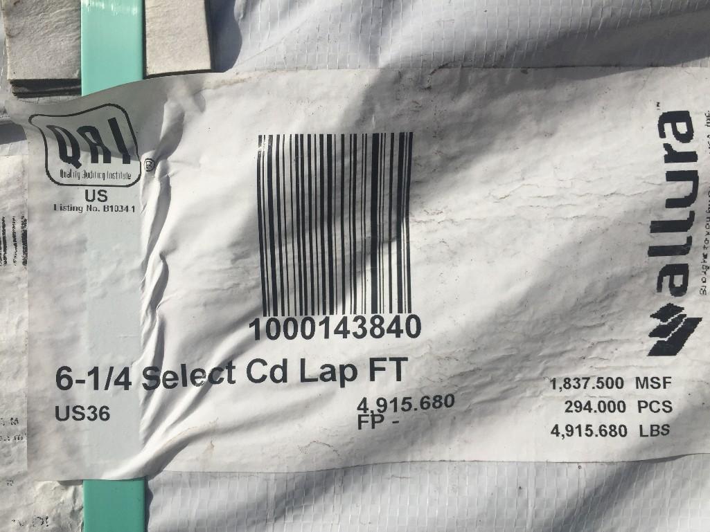 "Lot 25 - [50] ALLURA Textured 6-1/4"" x 12' Cement Lap Siding Boards"