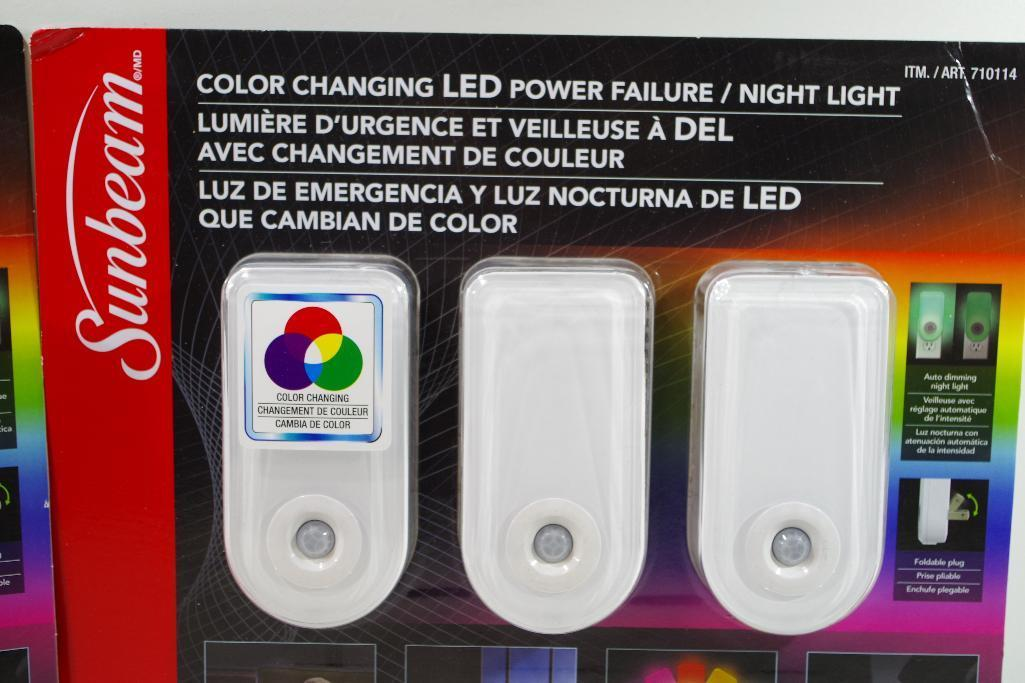 Lot 59 - [2] NEW SUNBEAM Color Changing LED Power Failure Night Lights