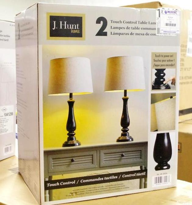 Lot 103 - NEW J. HUNT Touch Control Table Lamps (Box Contains 2 Lamps)