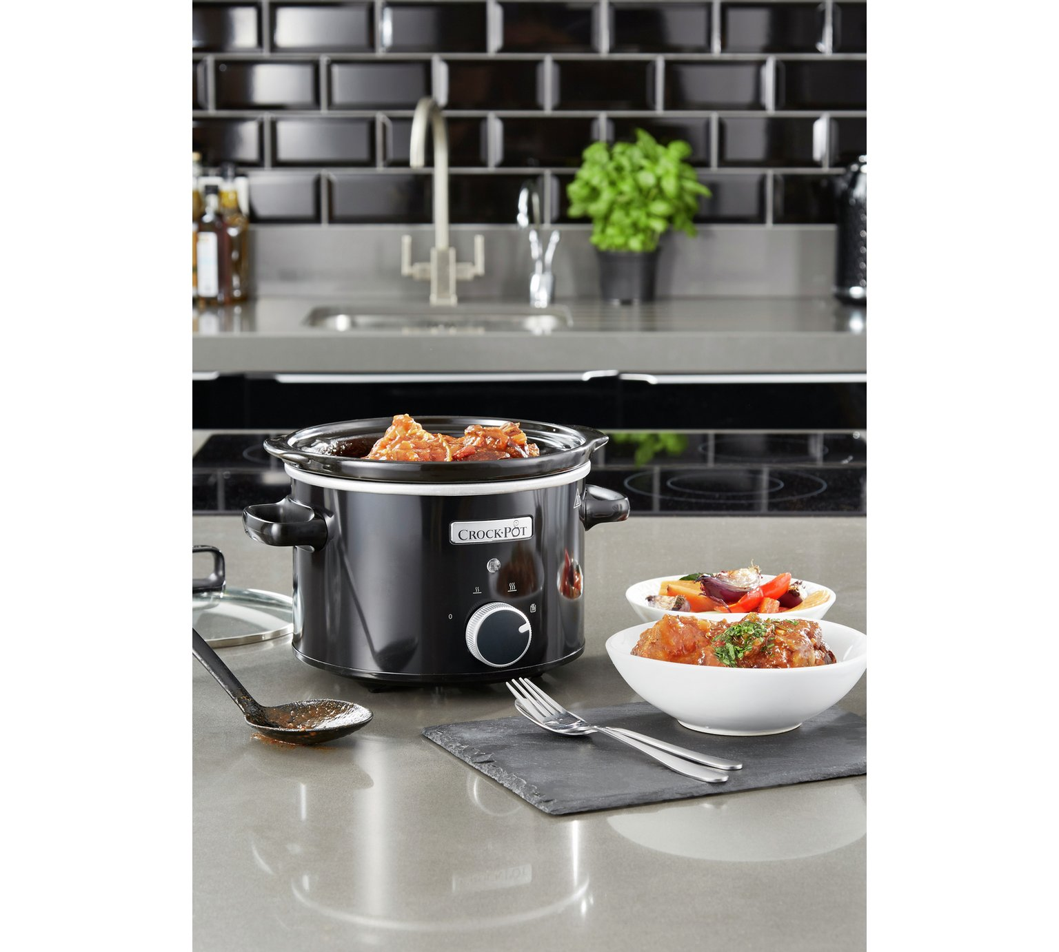 Lot 12249 - V Brand New 2.4L Crock-Pot Slow Cooker - £31.99 at Espares.co.uk - Black - Dishwasher Safe - Oven