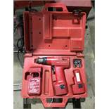 Milwaukee 3/8 cordless drill driver in case