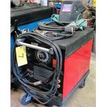 C250E AC/DC MIG WELDER W/ CABLES AND CART, MASK, CLOTHING