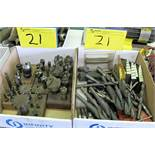 LOT OF (2) BOXES ASST. END MILLS, DRILL BITS, TAPS, BORING CUTTING BARS, ETC.